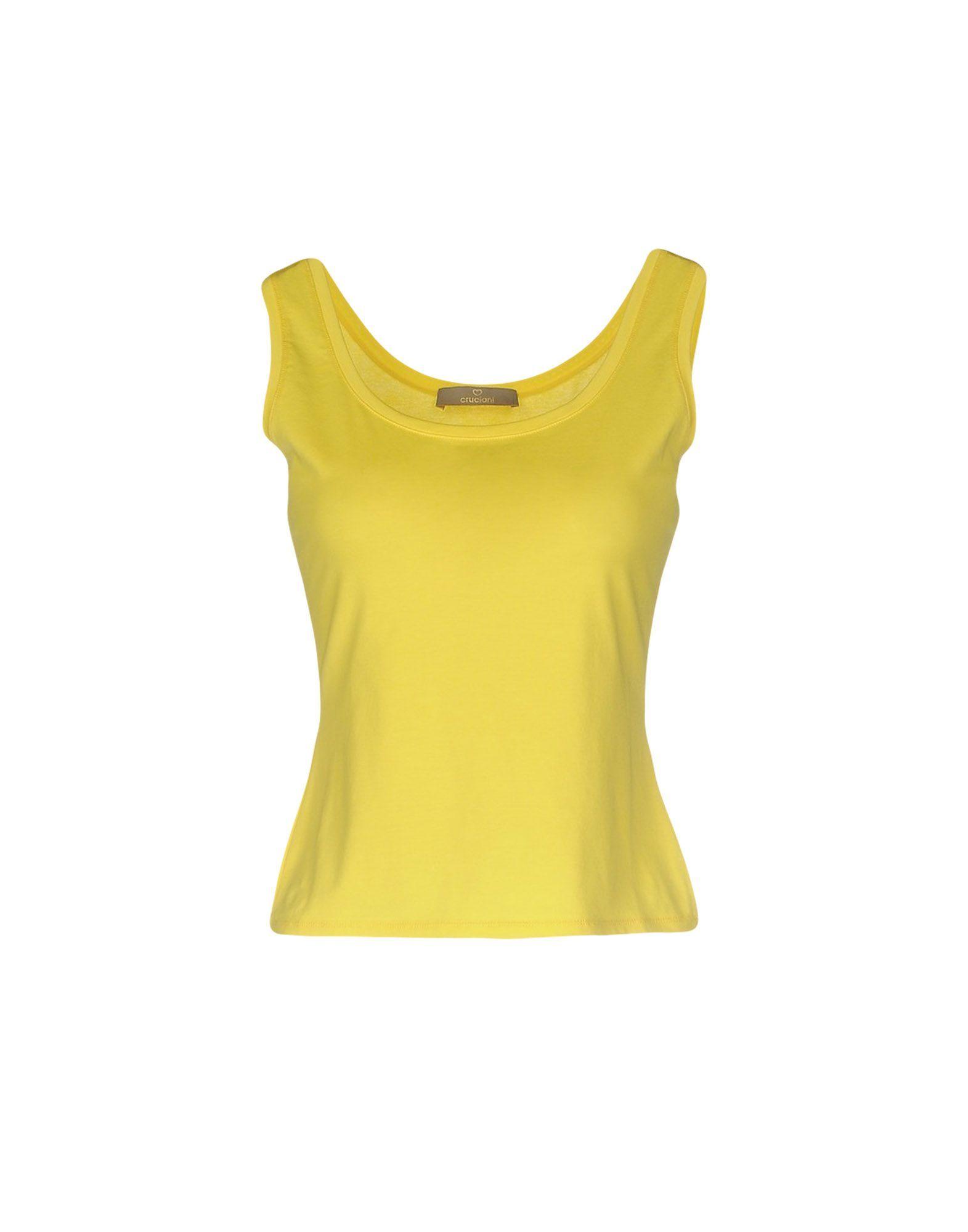TOPWEAR Cruciani Yellow Woman Cotton