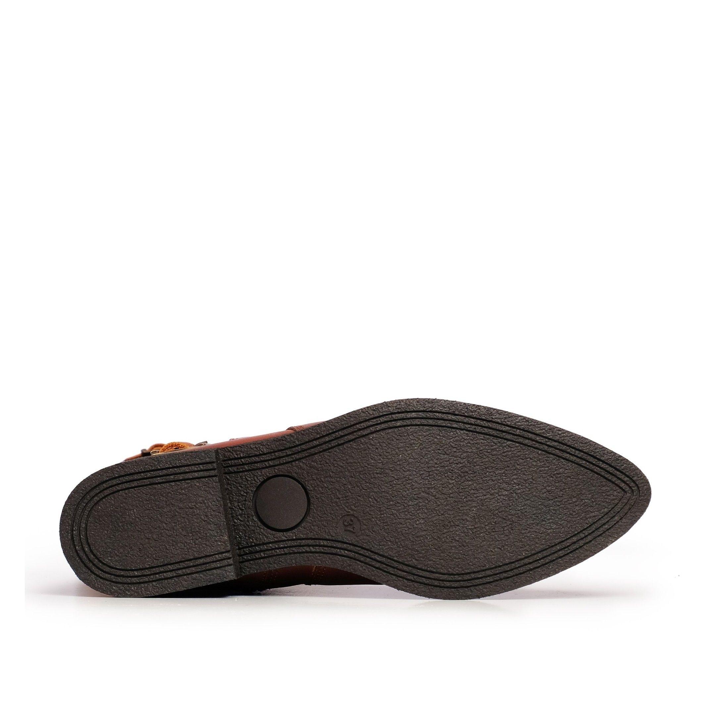 Leather High Boot Heel