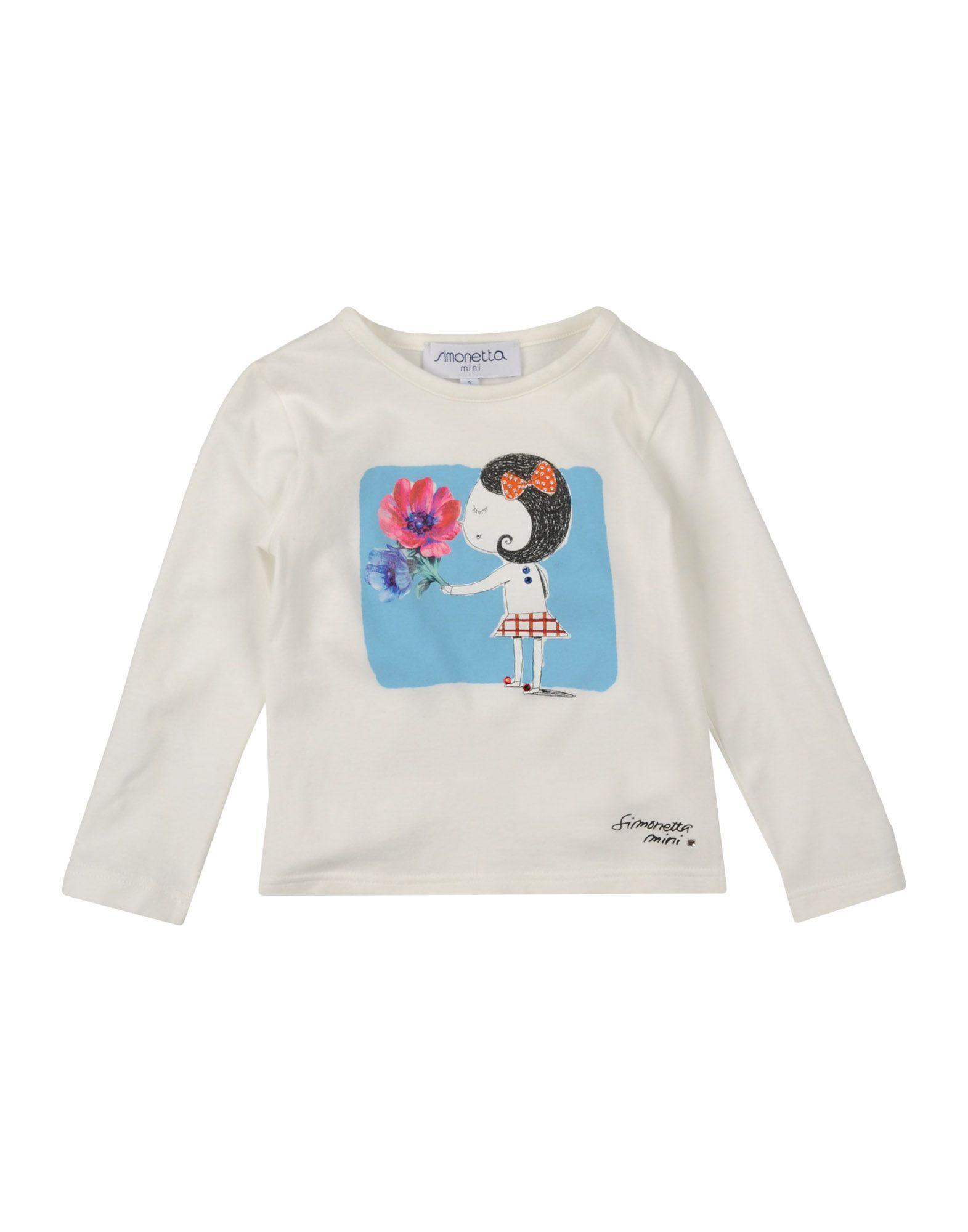 TOPWEAR Simonetta Mini Ivory Girl Cotton