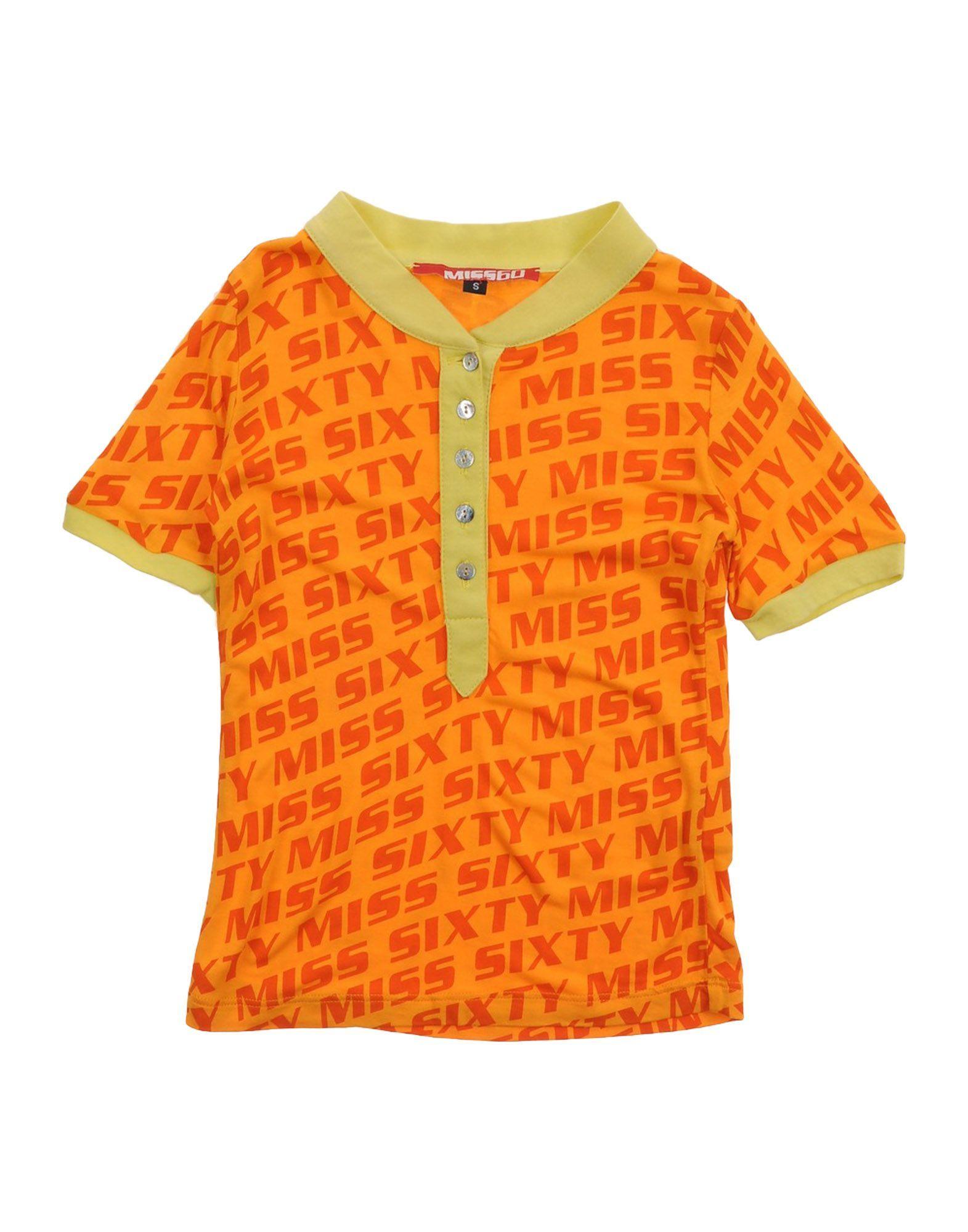 TOPS & TEES Miss Sixty Orange Girl Viscose
