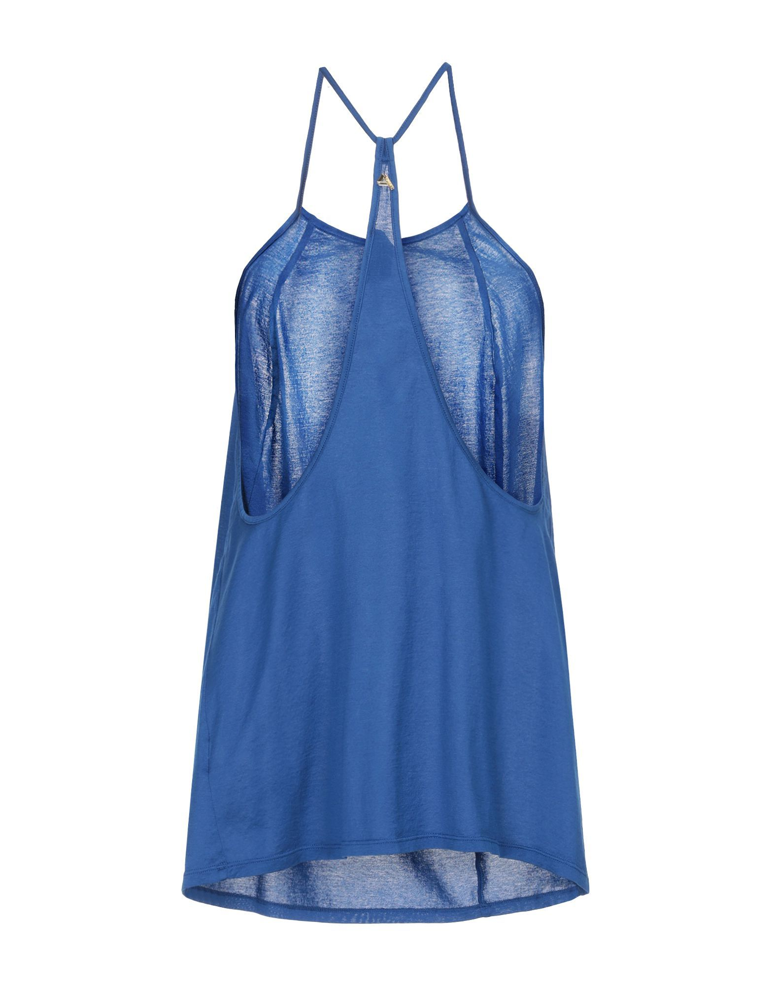 Cycle Woman Tops Blue Cotton
