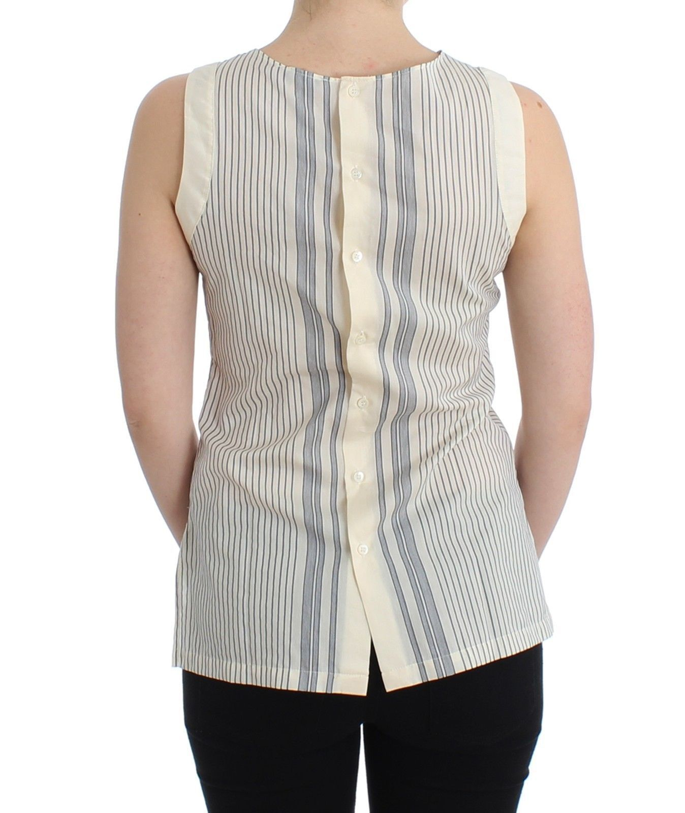 Ermanno Scervino Beachwear Striped Top Blouse Shirt Bow Tank