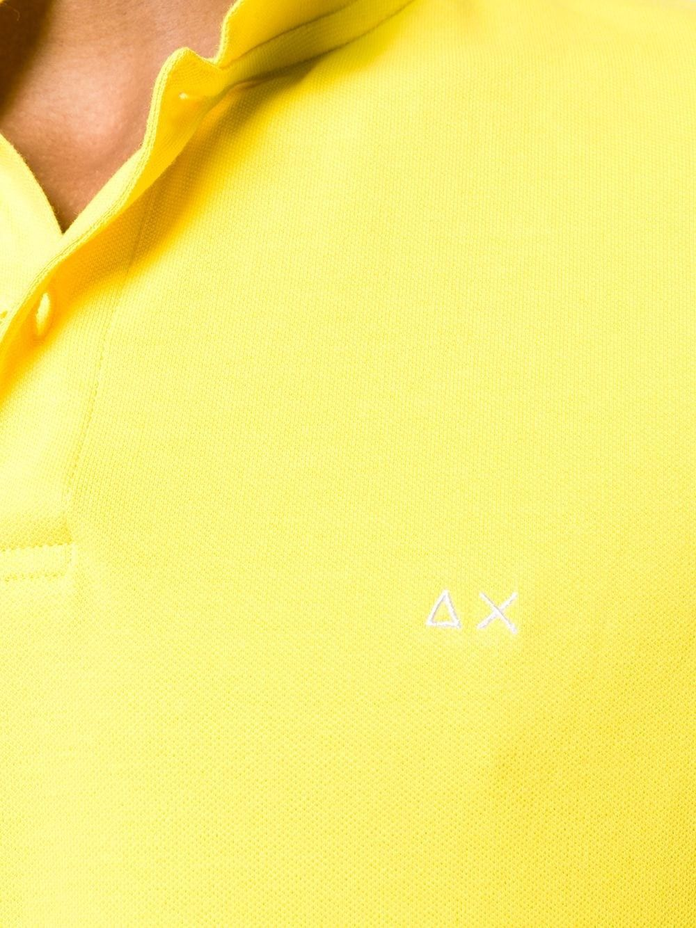 SUN 68 MEN'S A1910623 YELLOW COTTON POLO SHIRT
