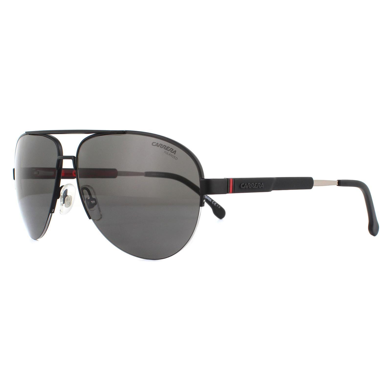 Carrera Sunglasses 8030/S 003 M9 Matte Black Grey Polarized