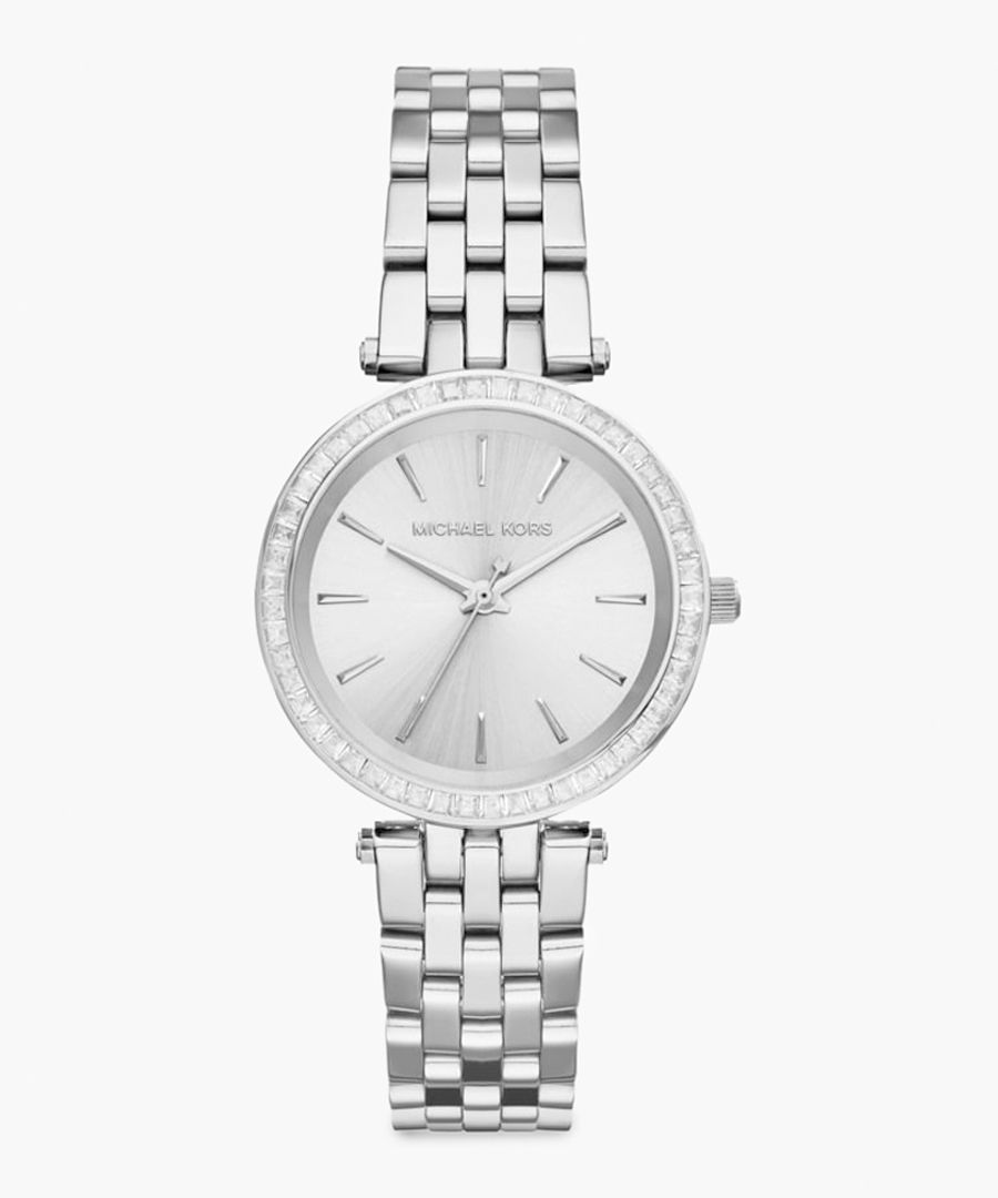 Silver-plated stainless steel watch