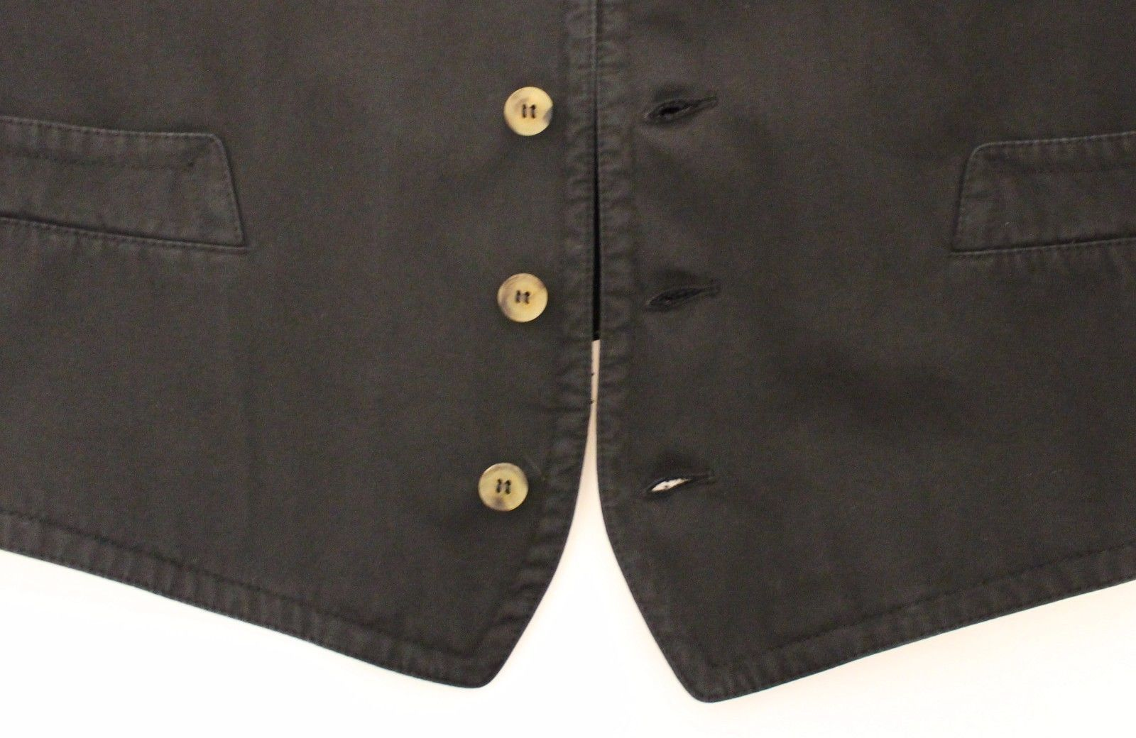 Dolce & Gabbana Black Cotton Viscose Dress Vest Blazer