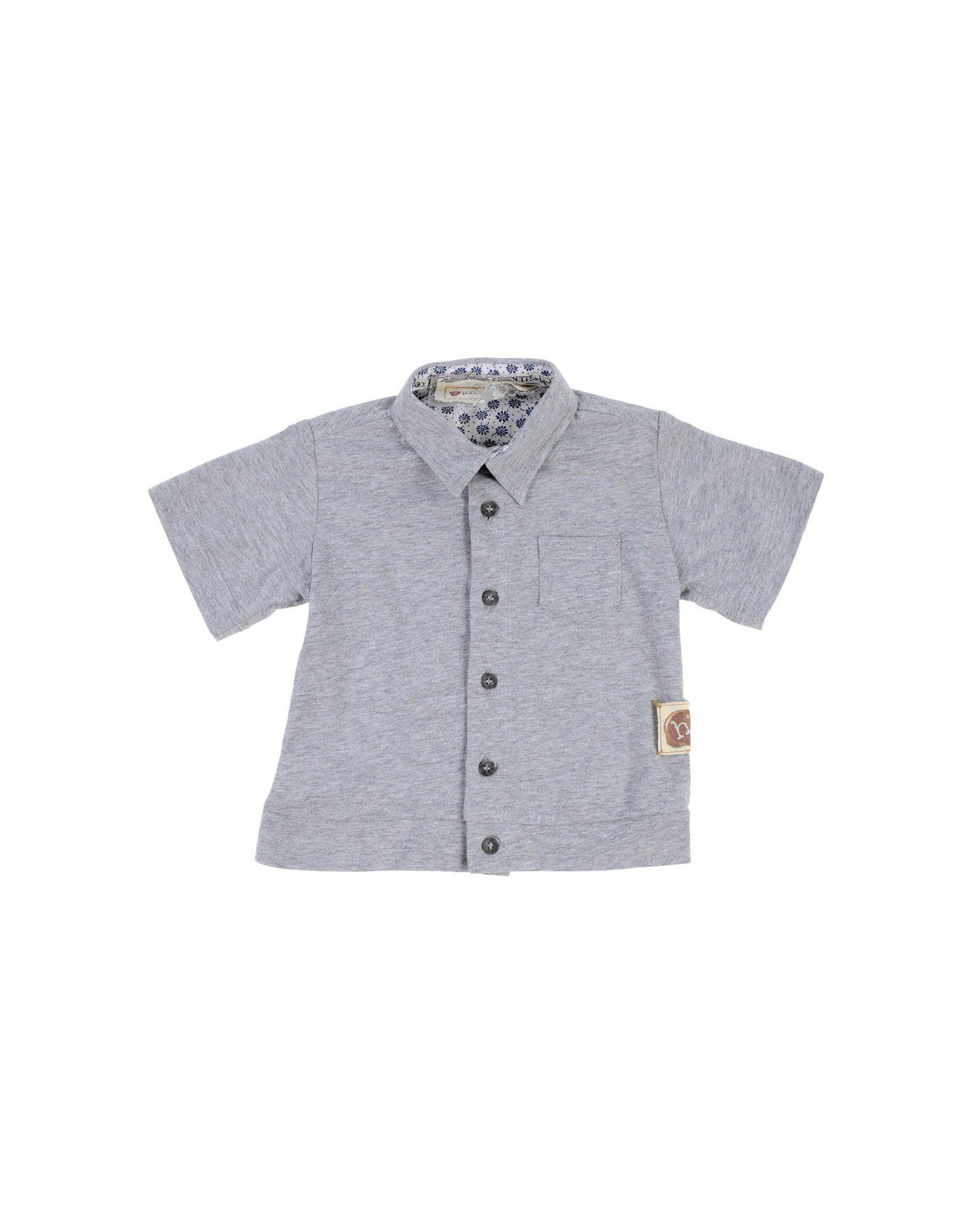 SHIRTS Hitch-Hiker Grey Boy Cotton