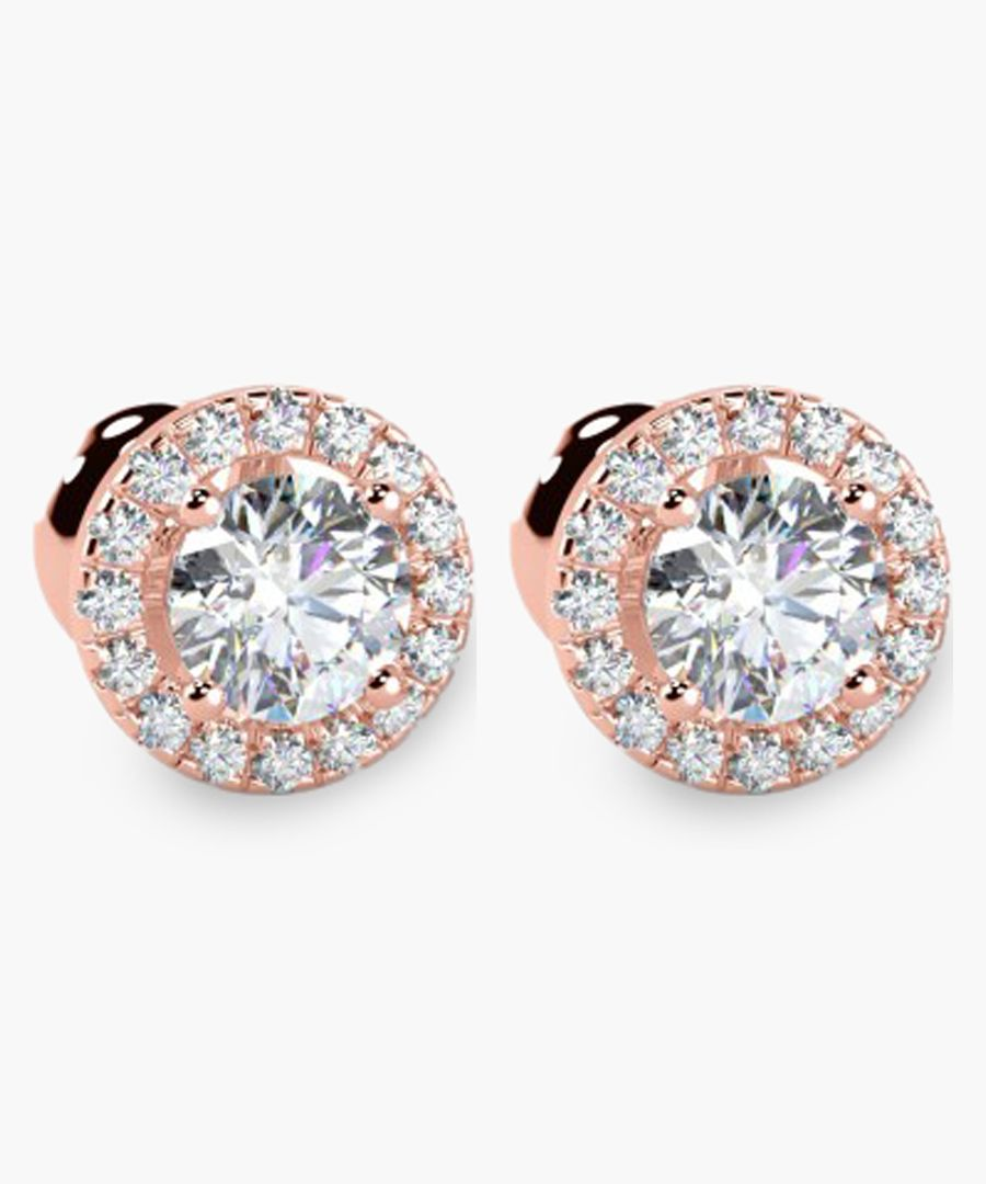 18k rose gold and 0.40ct diamond stud earrings