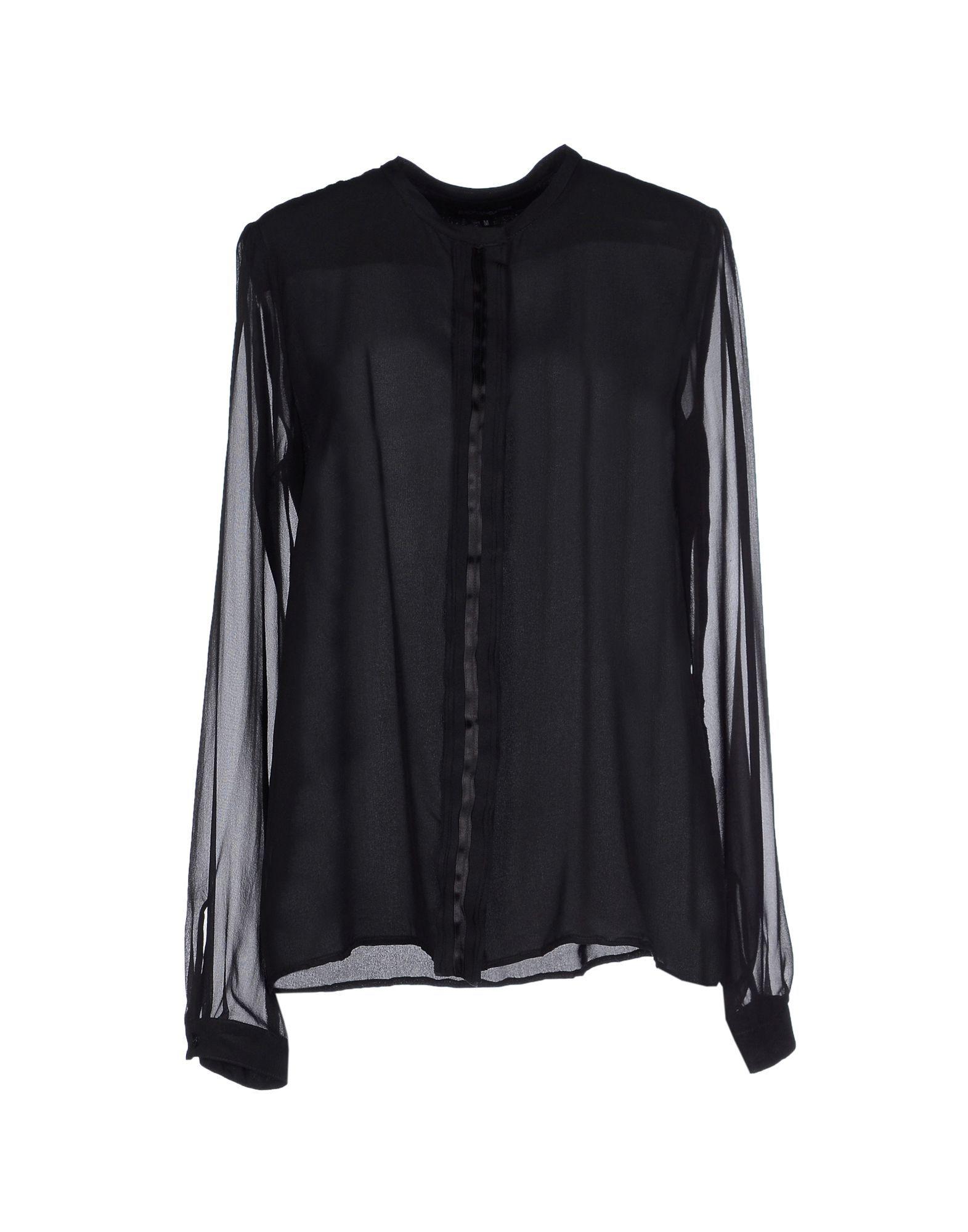 Shirts European Culture Black Women's Sasawashi