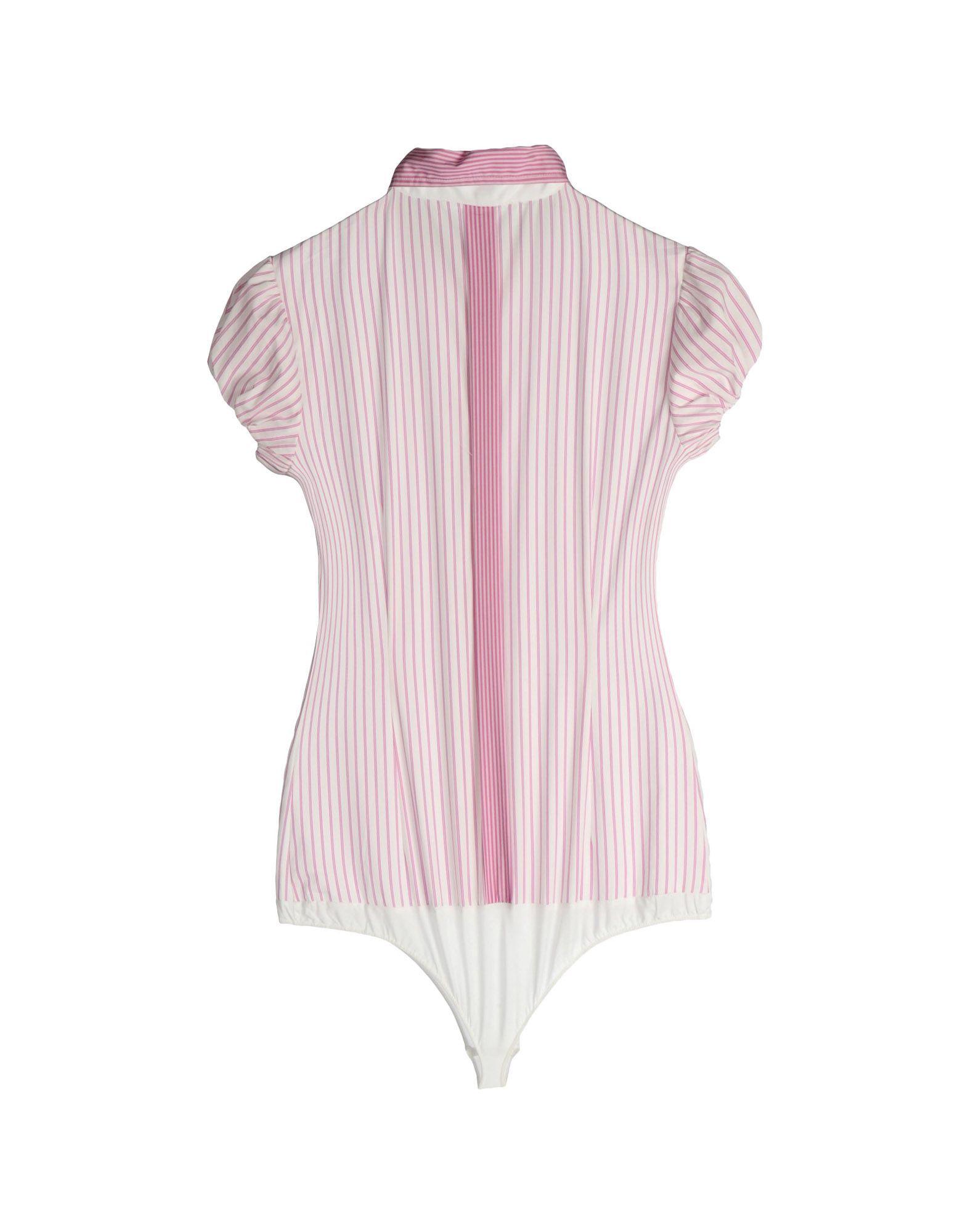 Nenette Light Purple Cotton Stripe Shirt Bodysuit