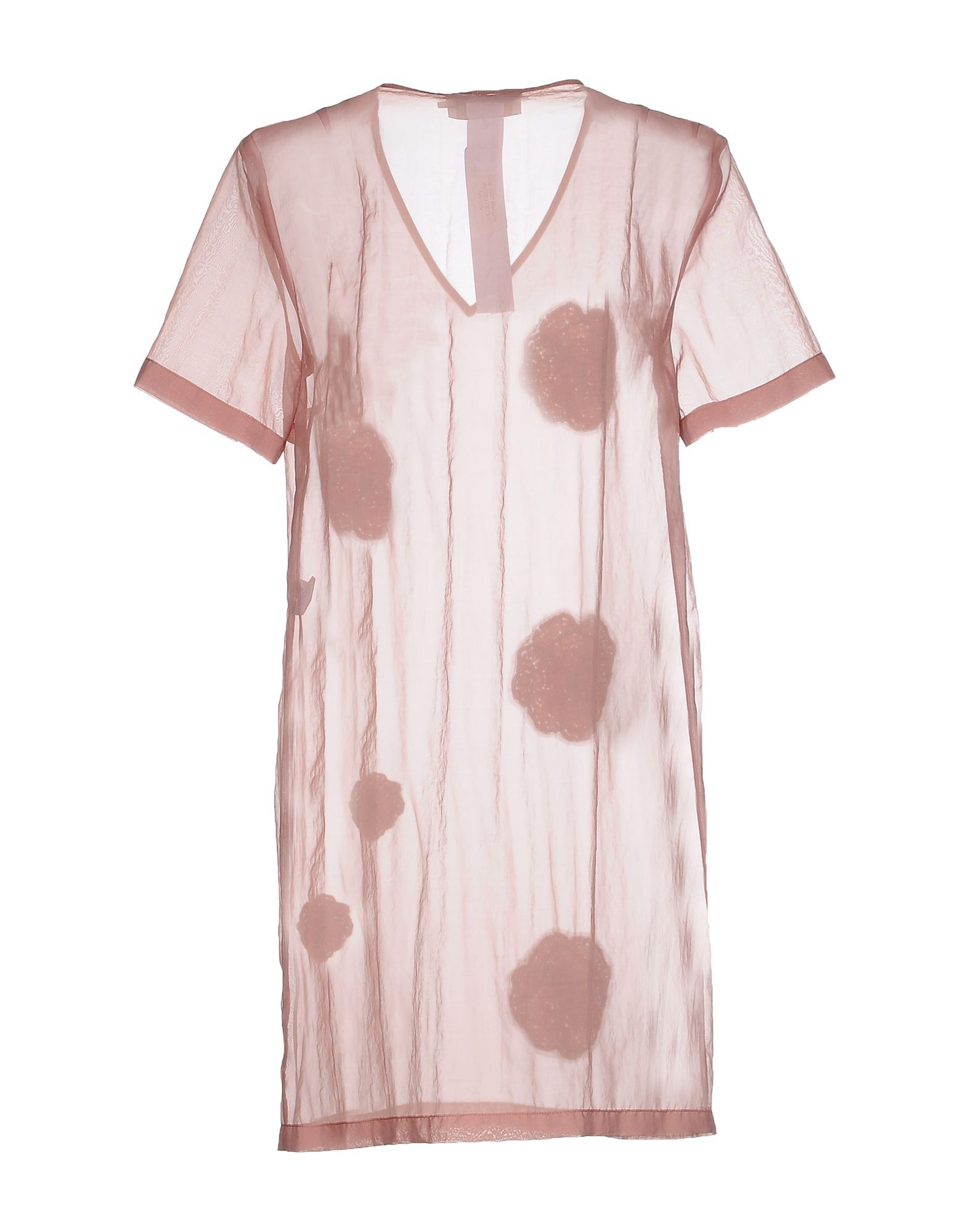 L' Autre Chose Pale Pink Organza And Sequin Short Sleeve Dress