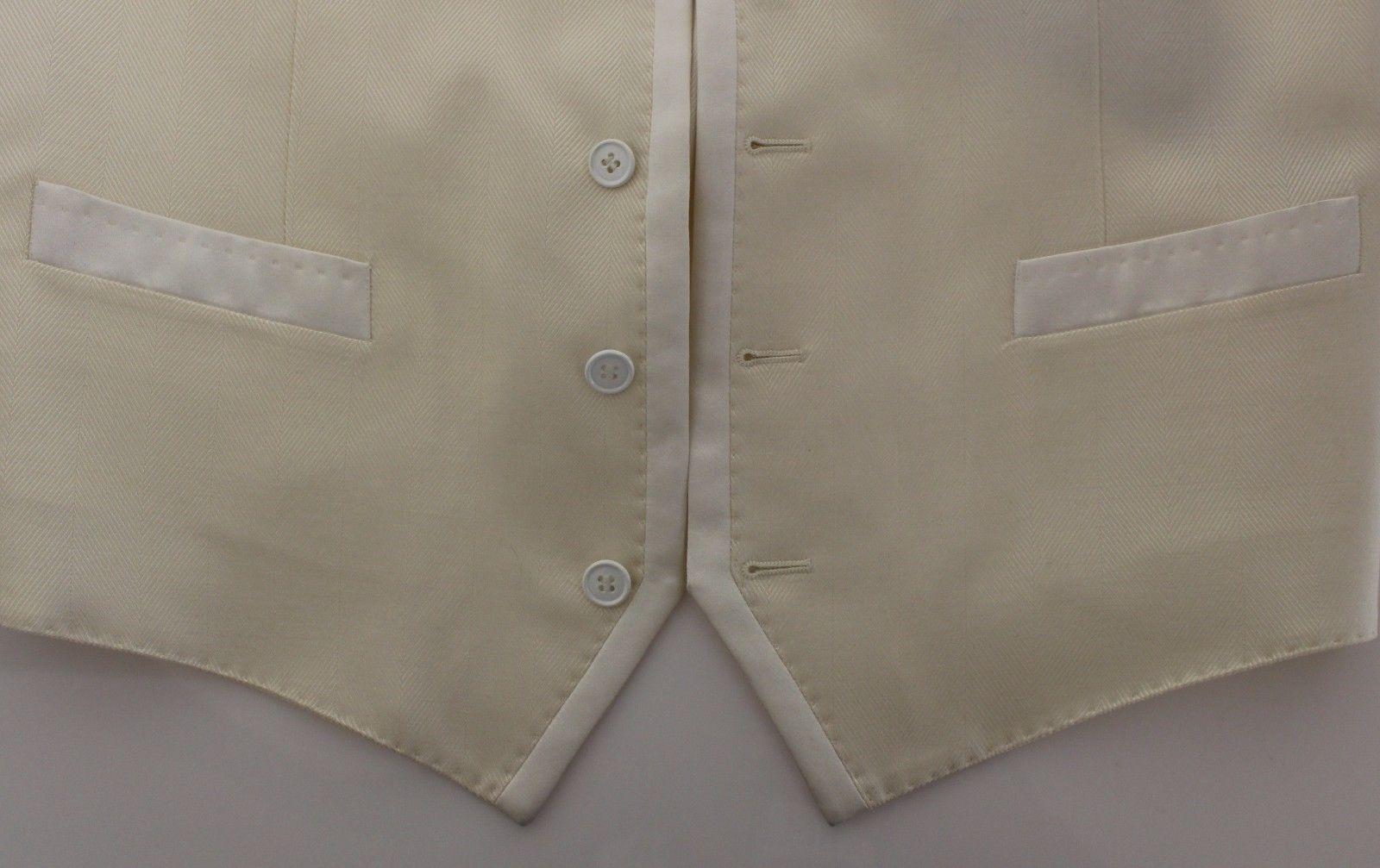 Dolce & Gabbana White Wool Blend Dress Vest Blazer Jacket