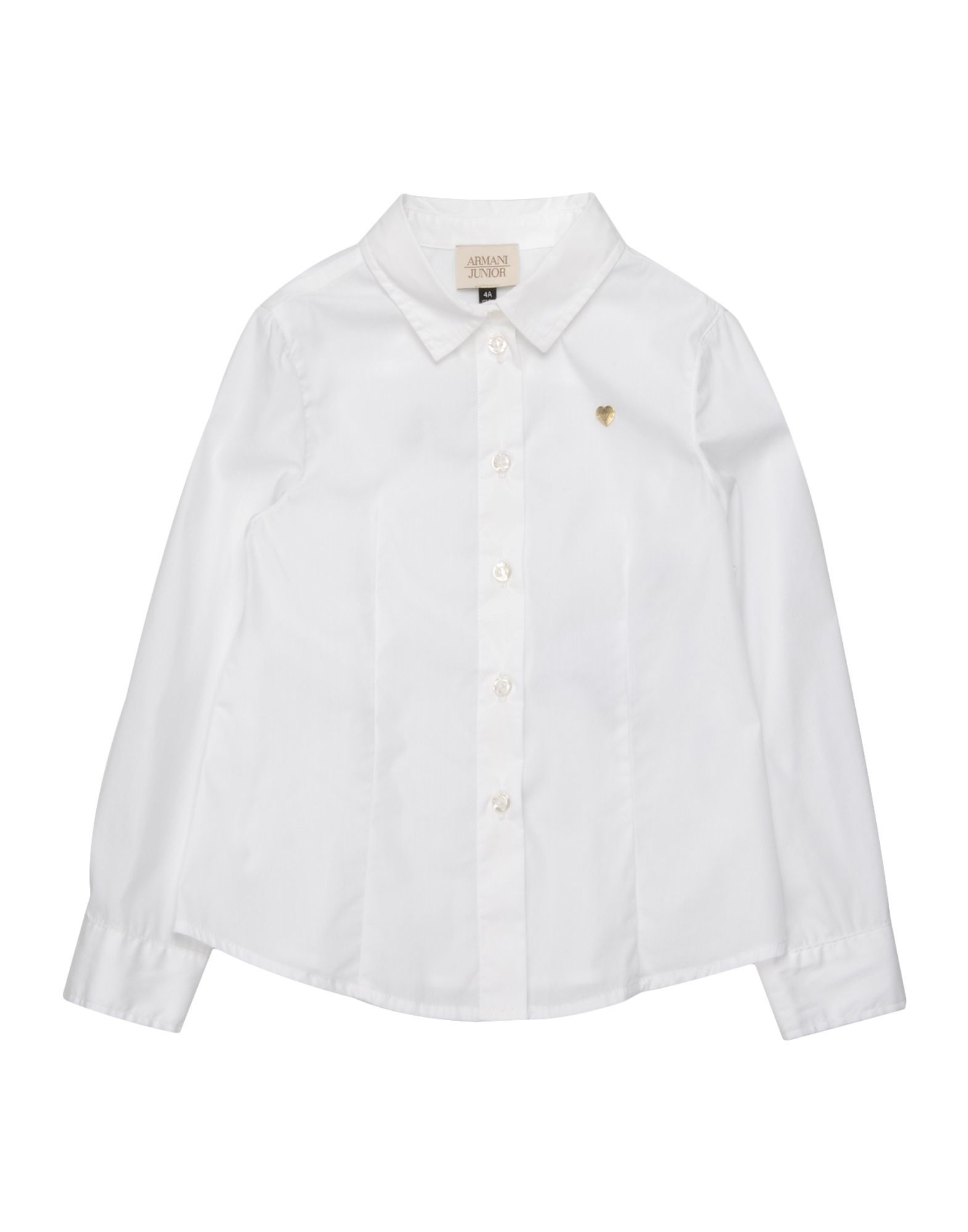 SHIRTS Armani Junior White Girl Cotton