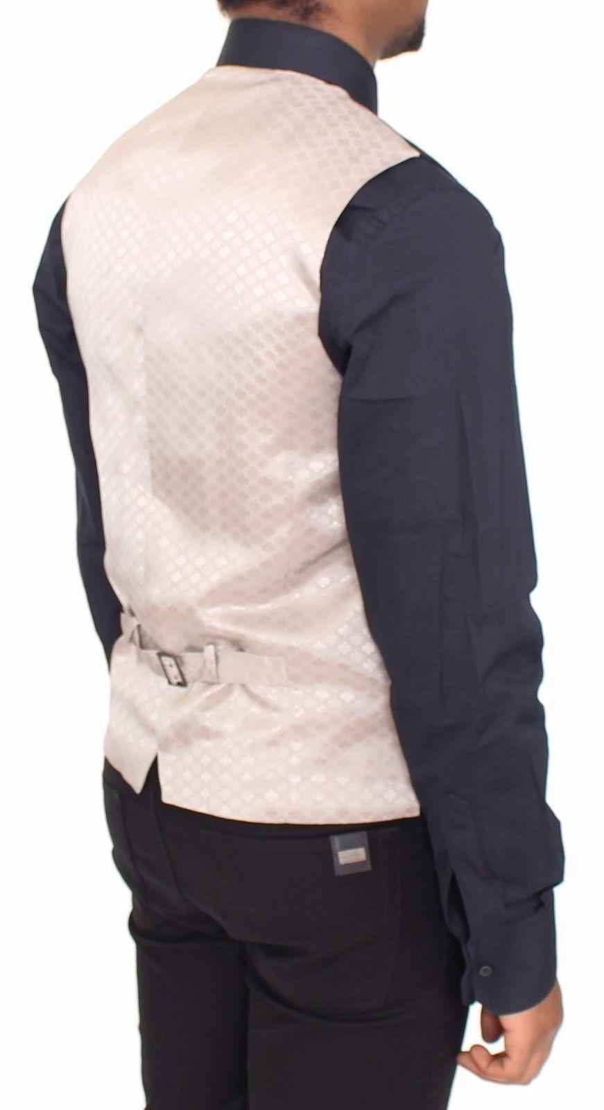 Dolce & Gabbana Black Cotton Dress Vest Blazer Jacket