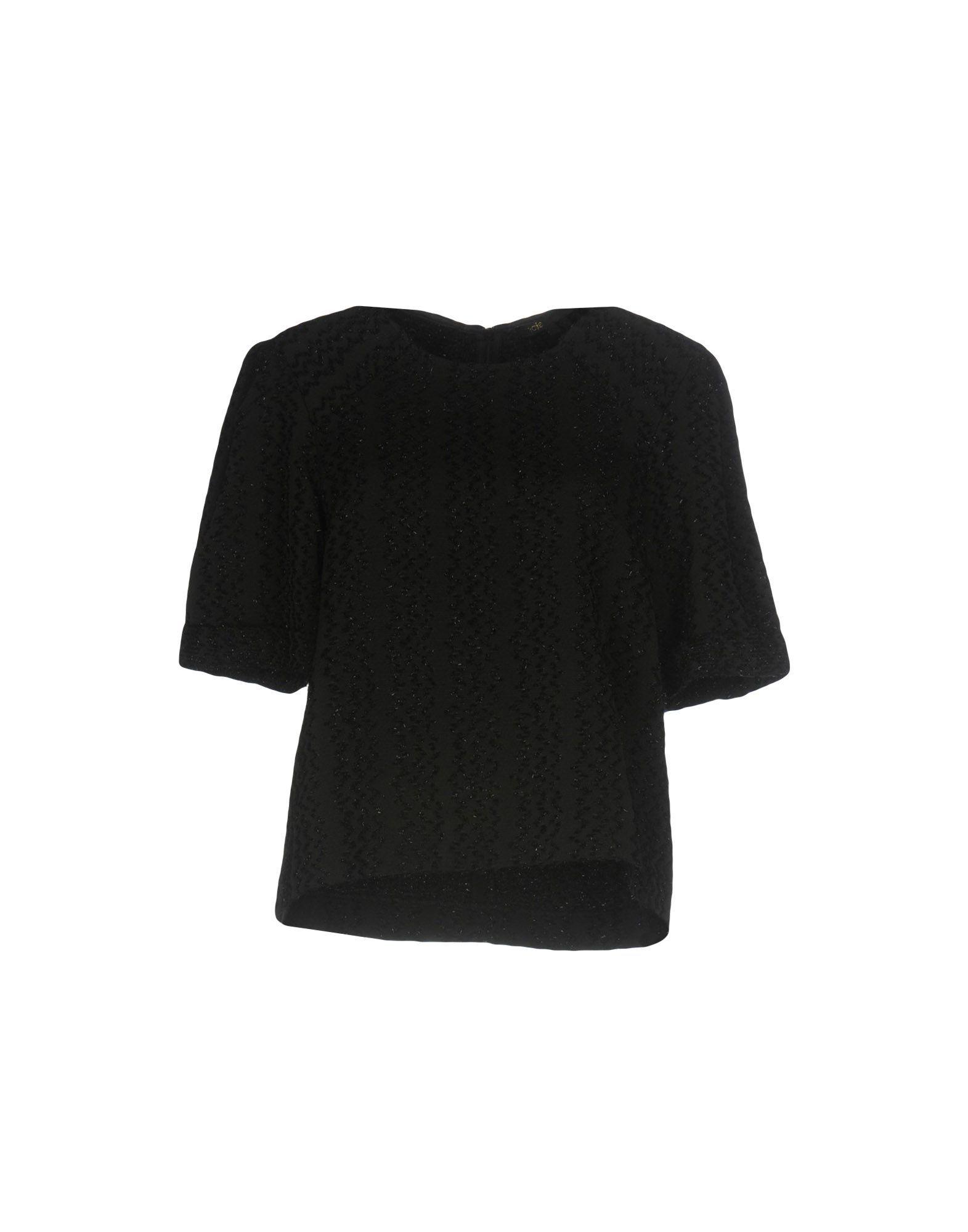 Maje Black Short Sleeve Shirt