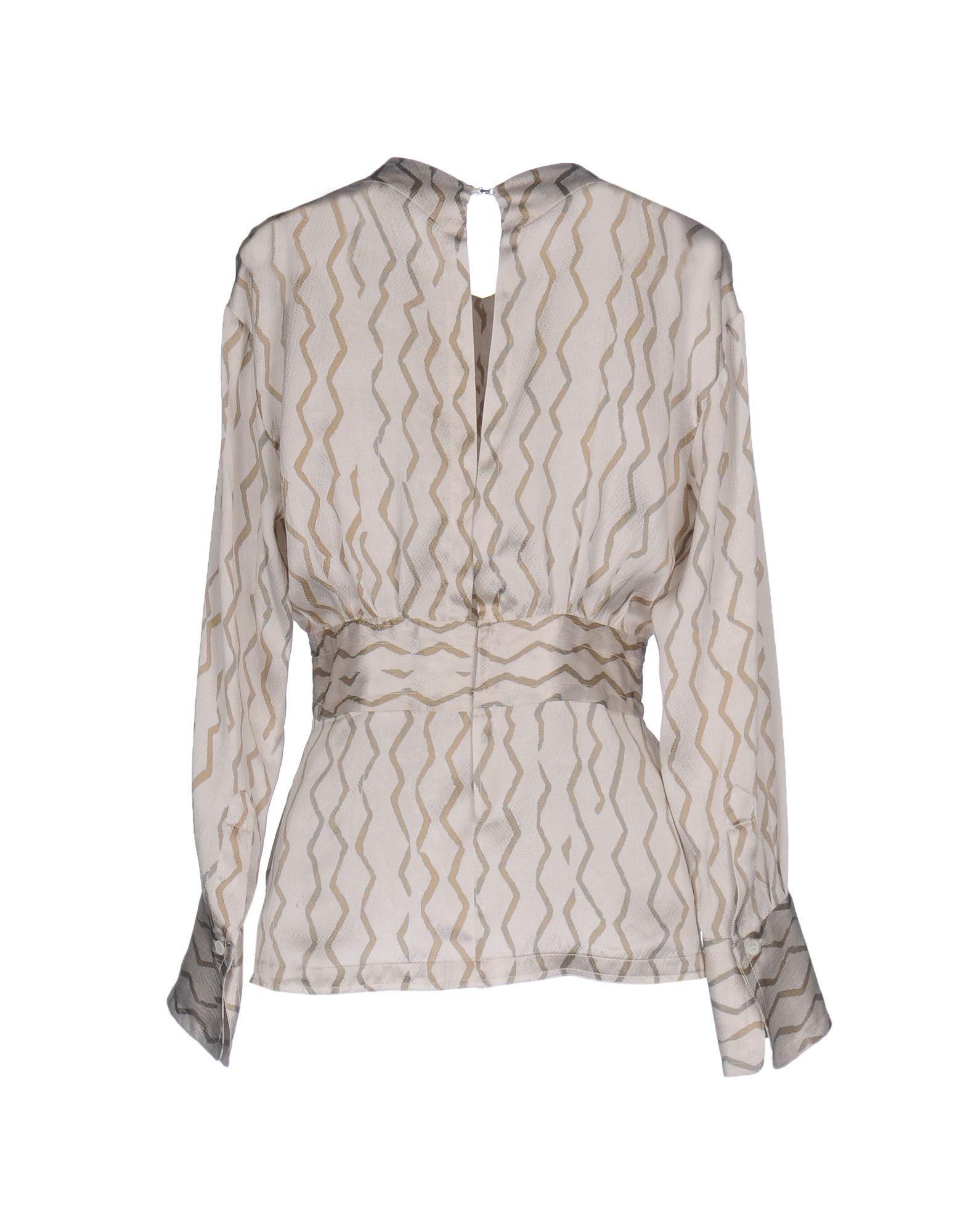 Isabel Marant Light Grey Print Silk Blouse