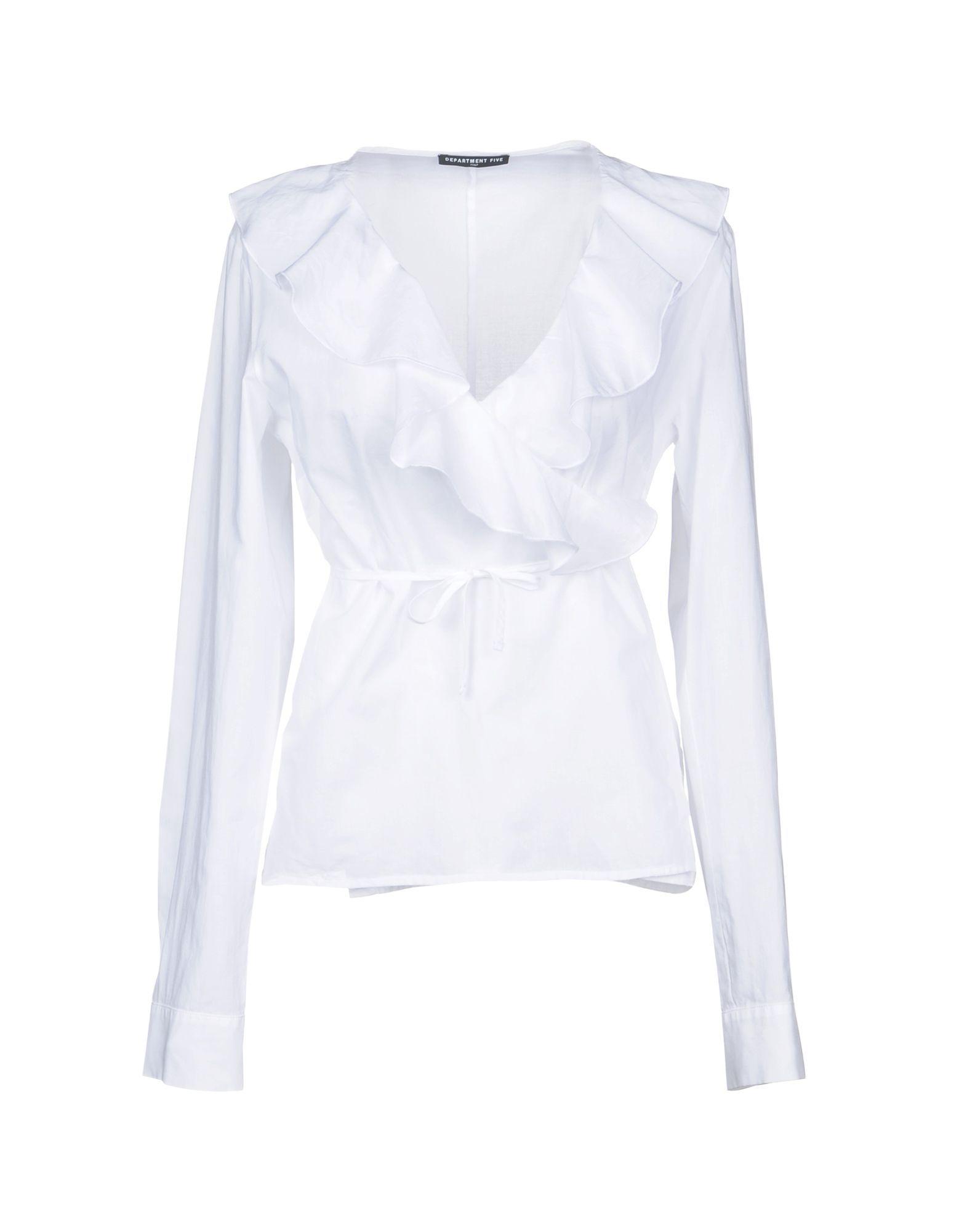 SHIRTS Department 5 White Woman Cotton