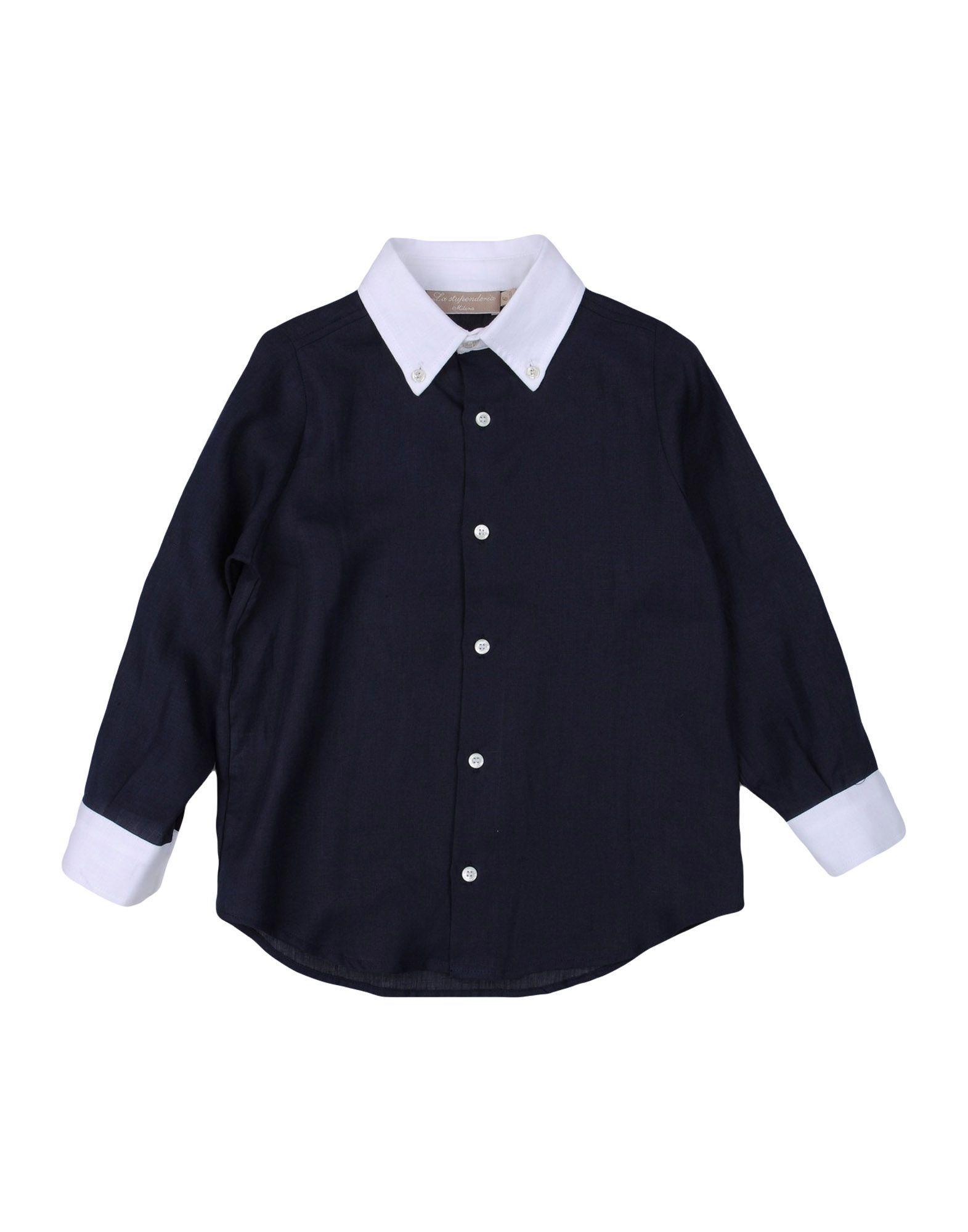 SHIRTS La Stupenderia Dark blue Boy Linen