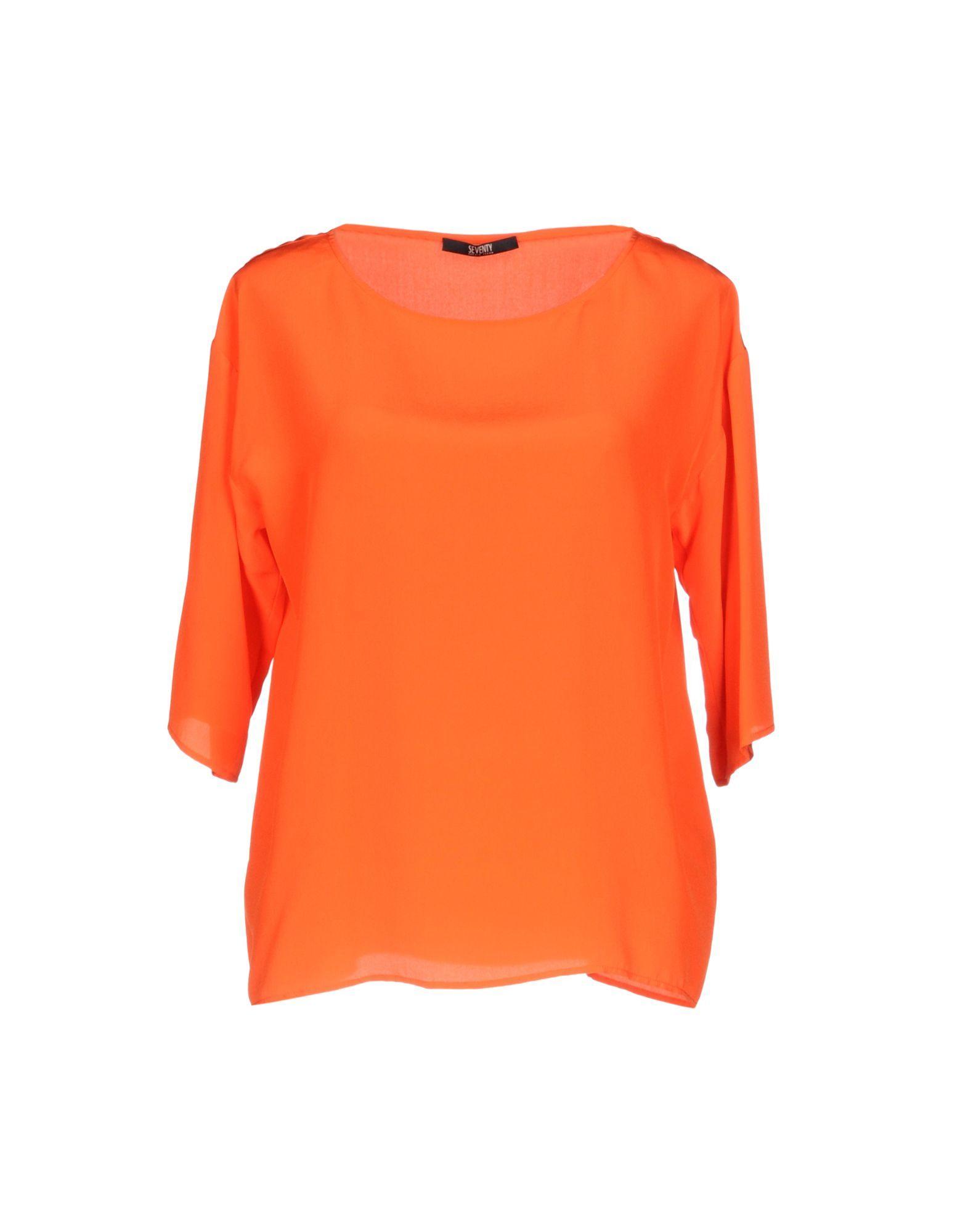 SHIRTS Seventy Sergio Tegon Orange Woman Silk