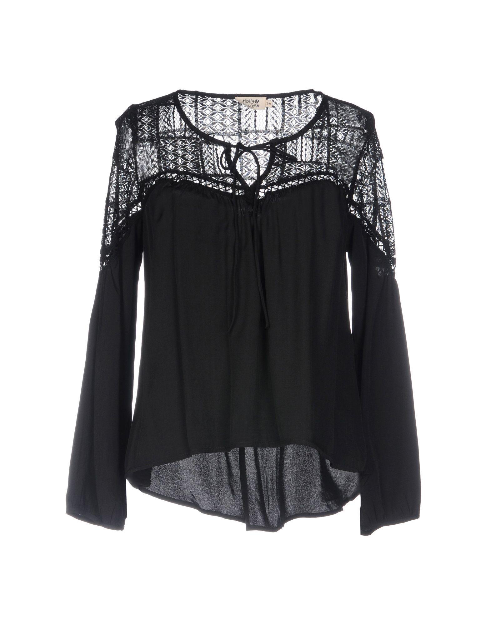 Shirts Molly Bracken Black Women's Polyester
