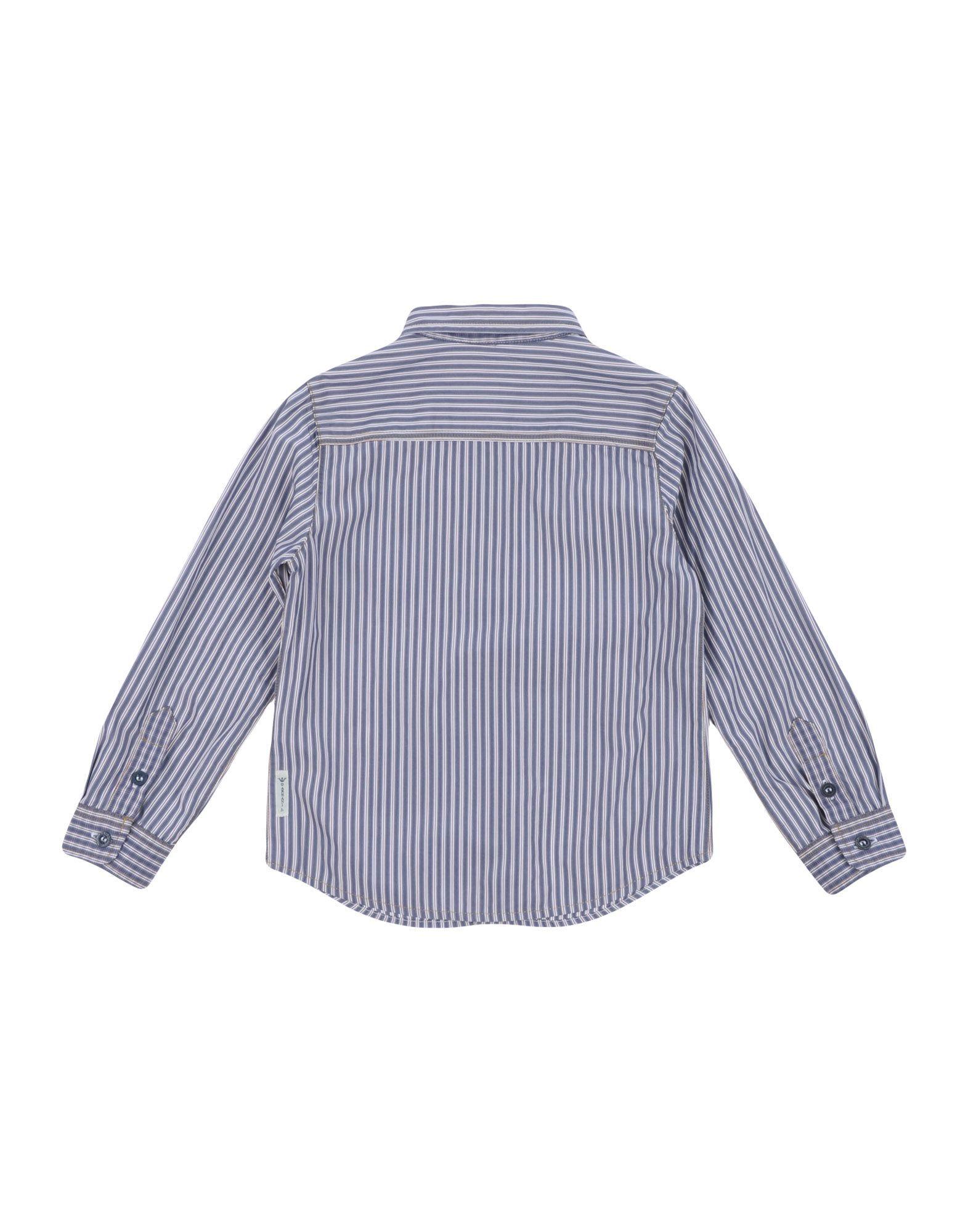 Armani Junior Slate Blue Boy Cotton Shirt