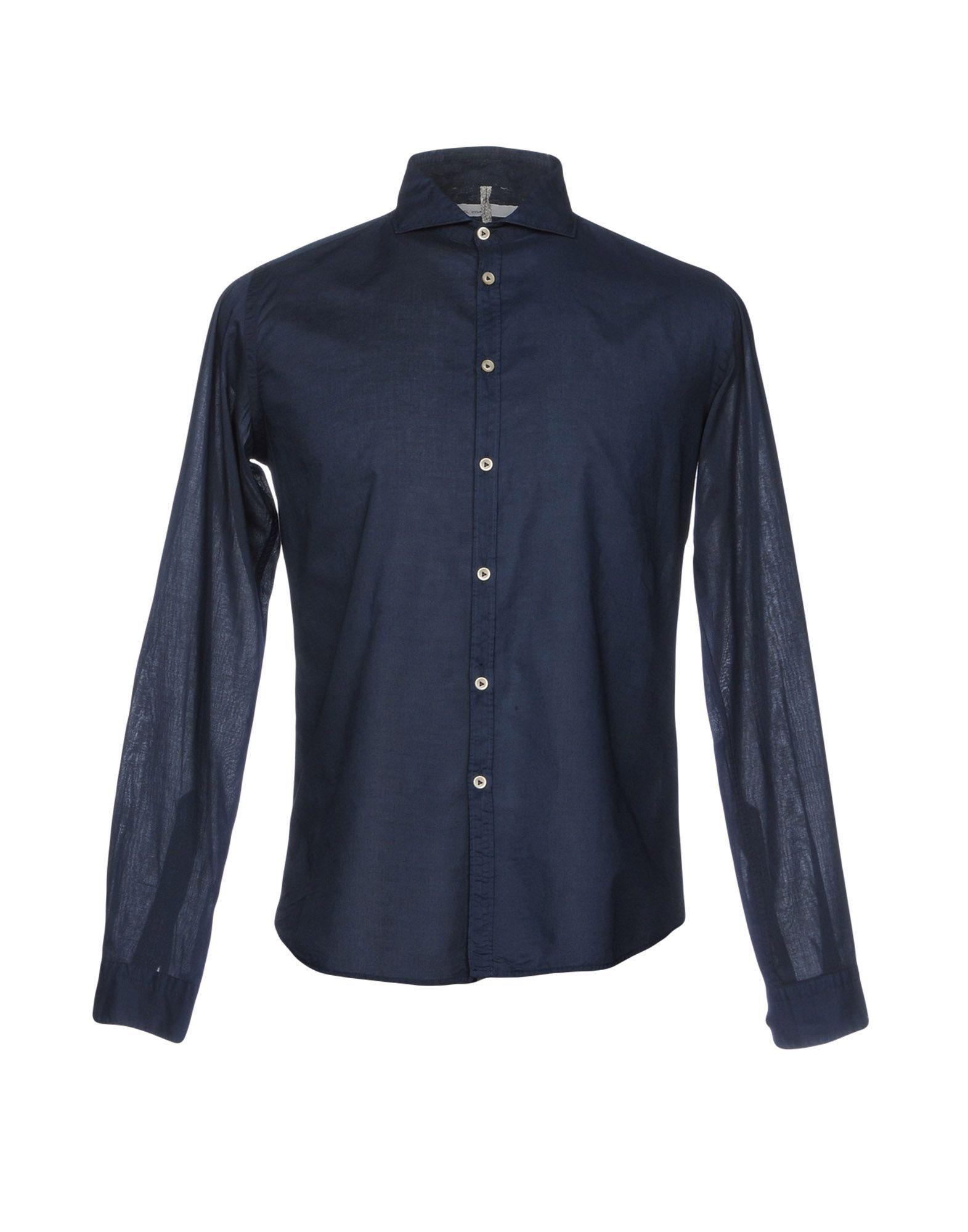 Michael Coal Dark Blue Cotton Shirt