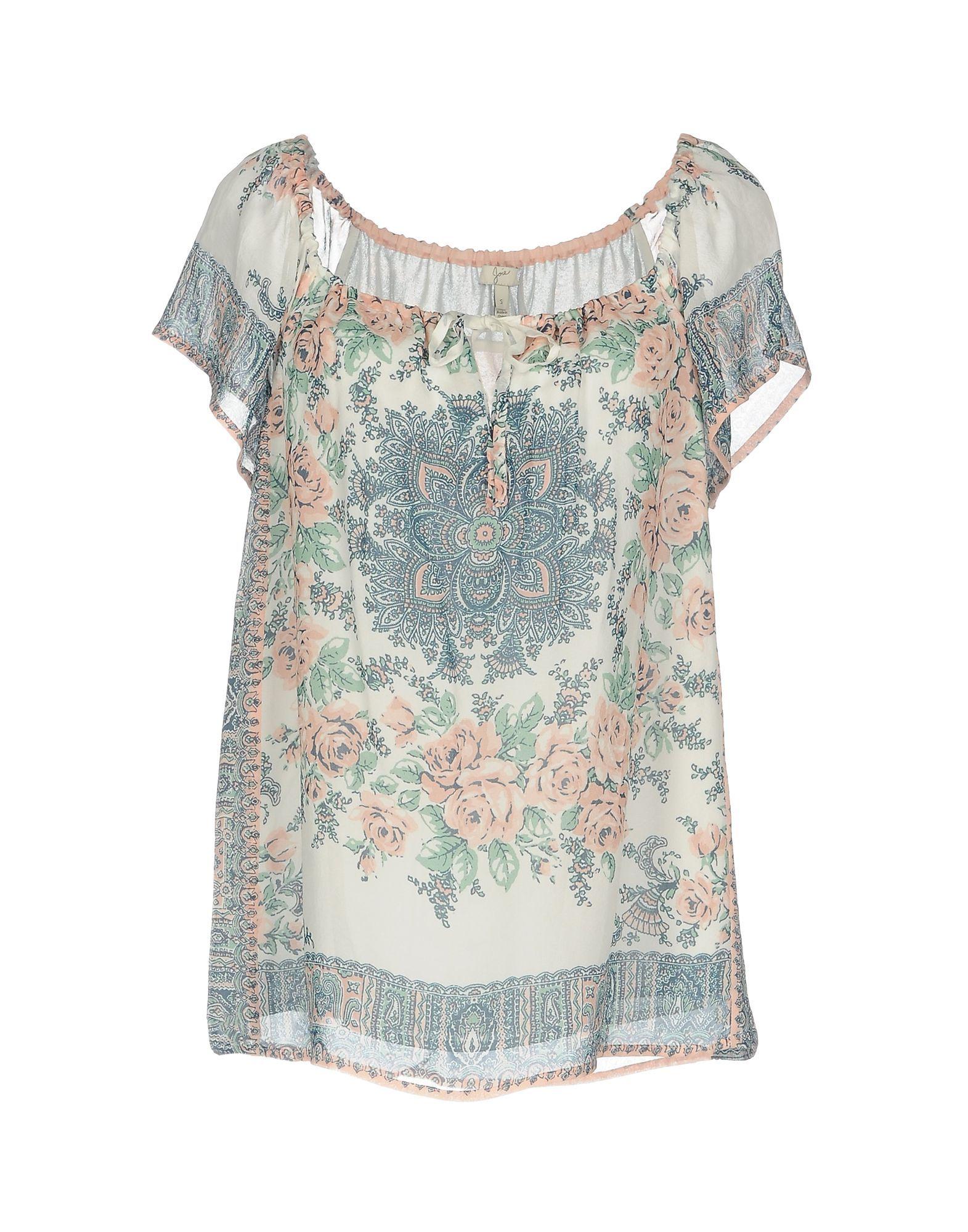 Joie Ivory Floral Design Blouse