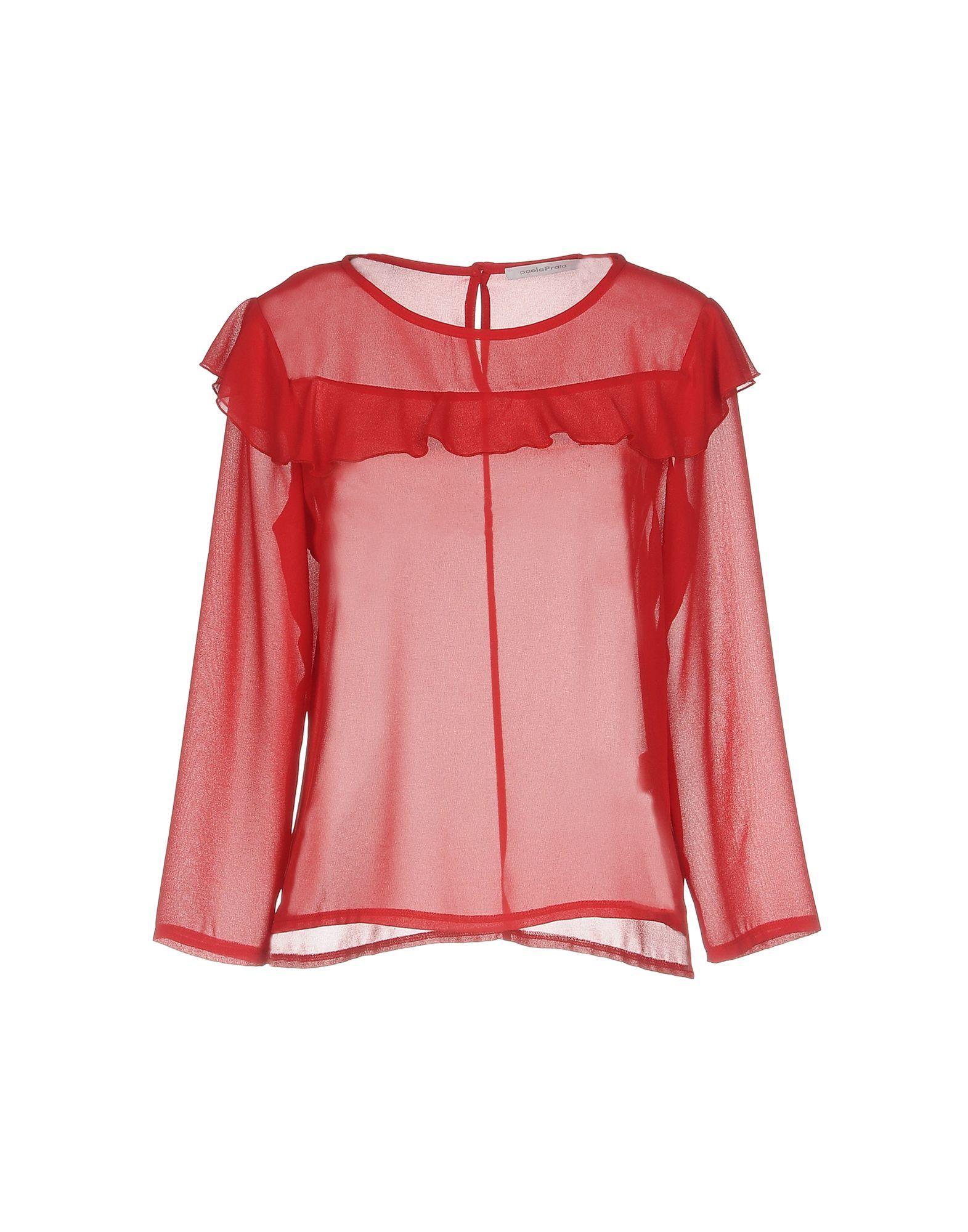 SHIRTS Paola Prata Red Woman Polyester