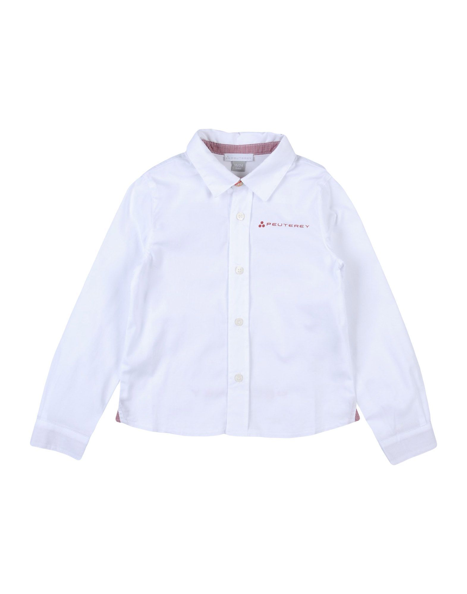 SHIRTS Boy Peuterey White Cotton