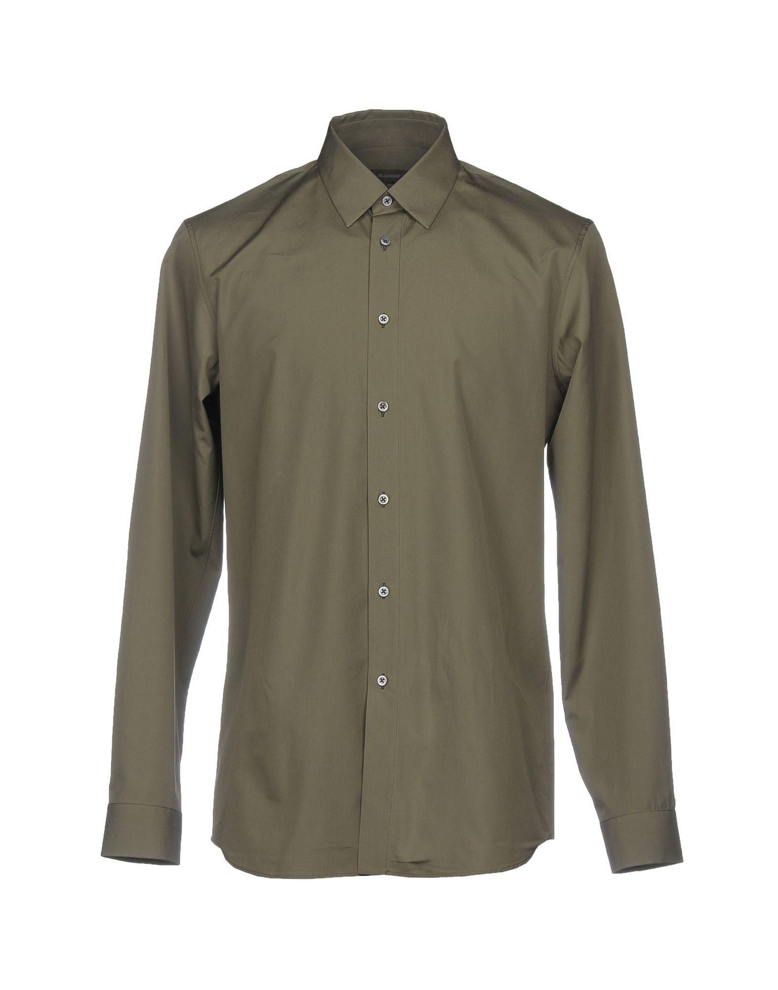 Jil Sander Grey Cotton Shirt