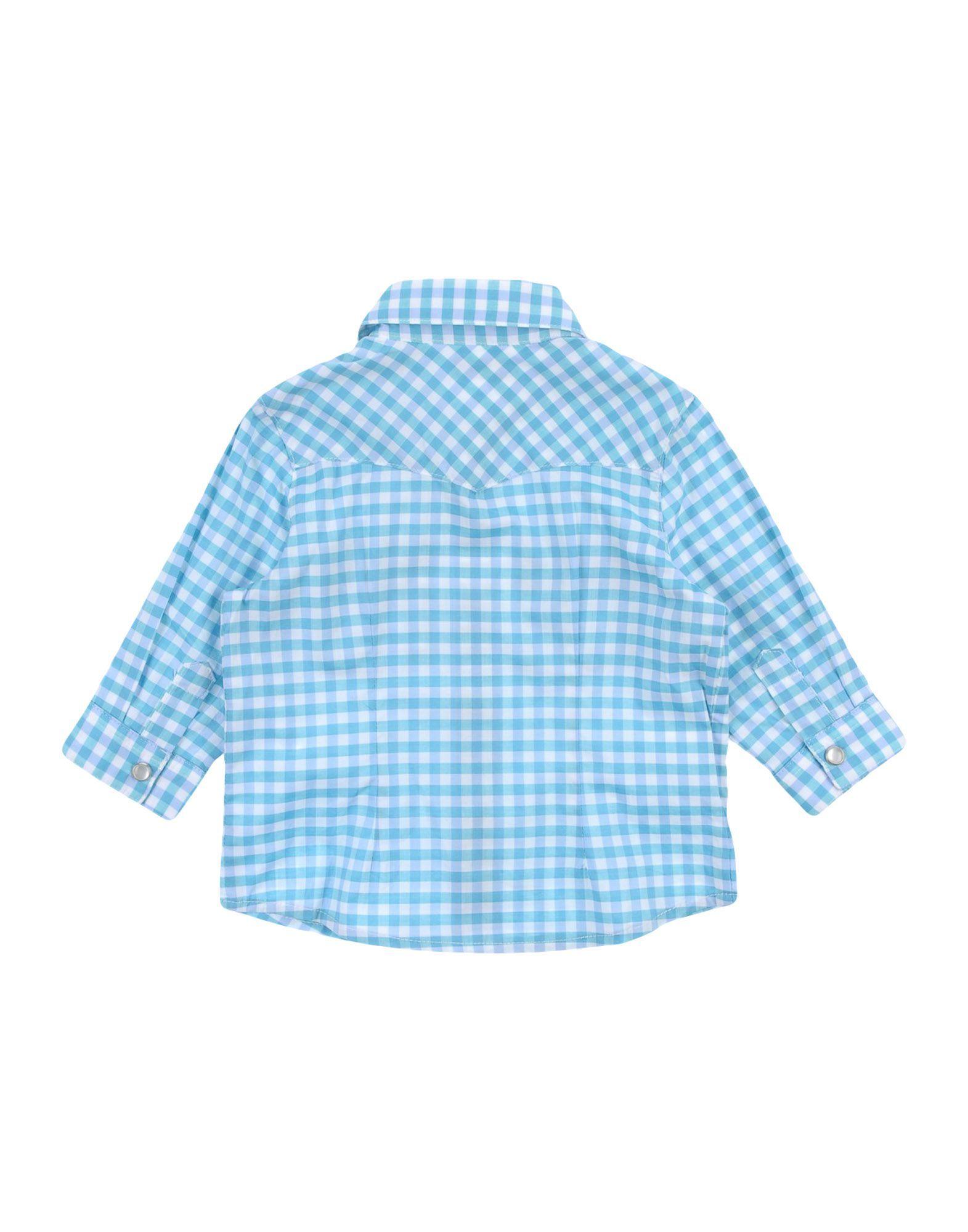 SHIRTS Grant Gar�on Baby Turquoise Boy Cotton
