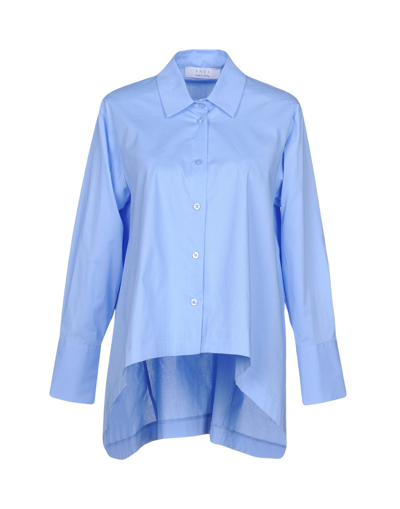 SHIRTS Kaos Sky blue Woman Cotton