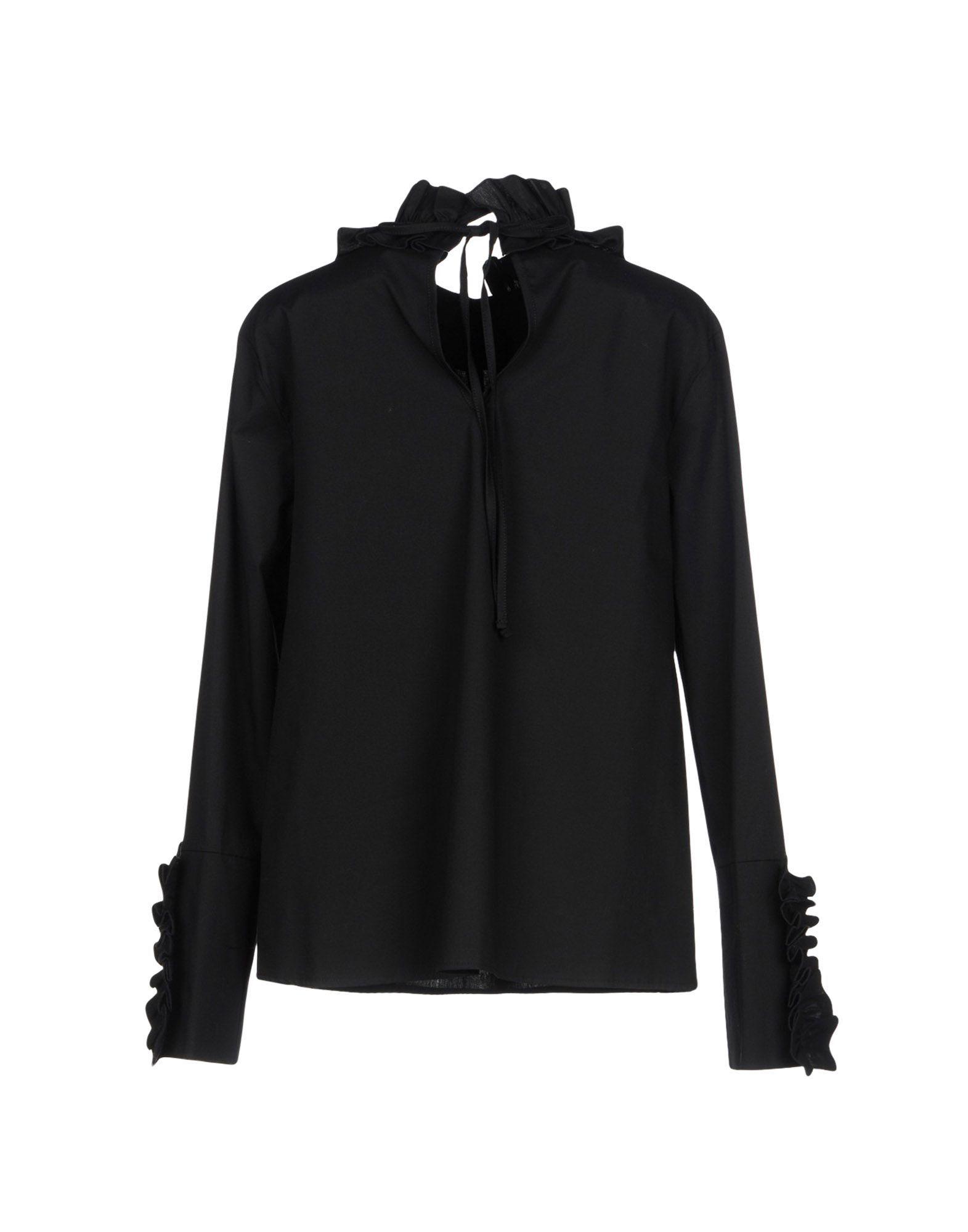 Kaos Jeans Black Cotton Shirt