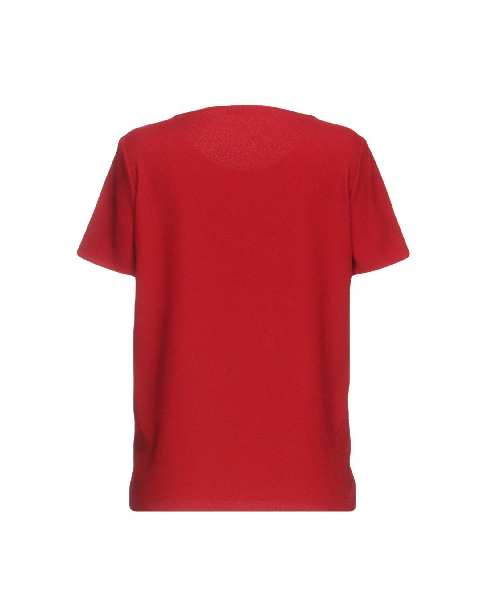 SHIRTS Rary Brick red Woman Polyester
