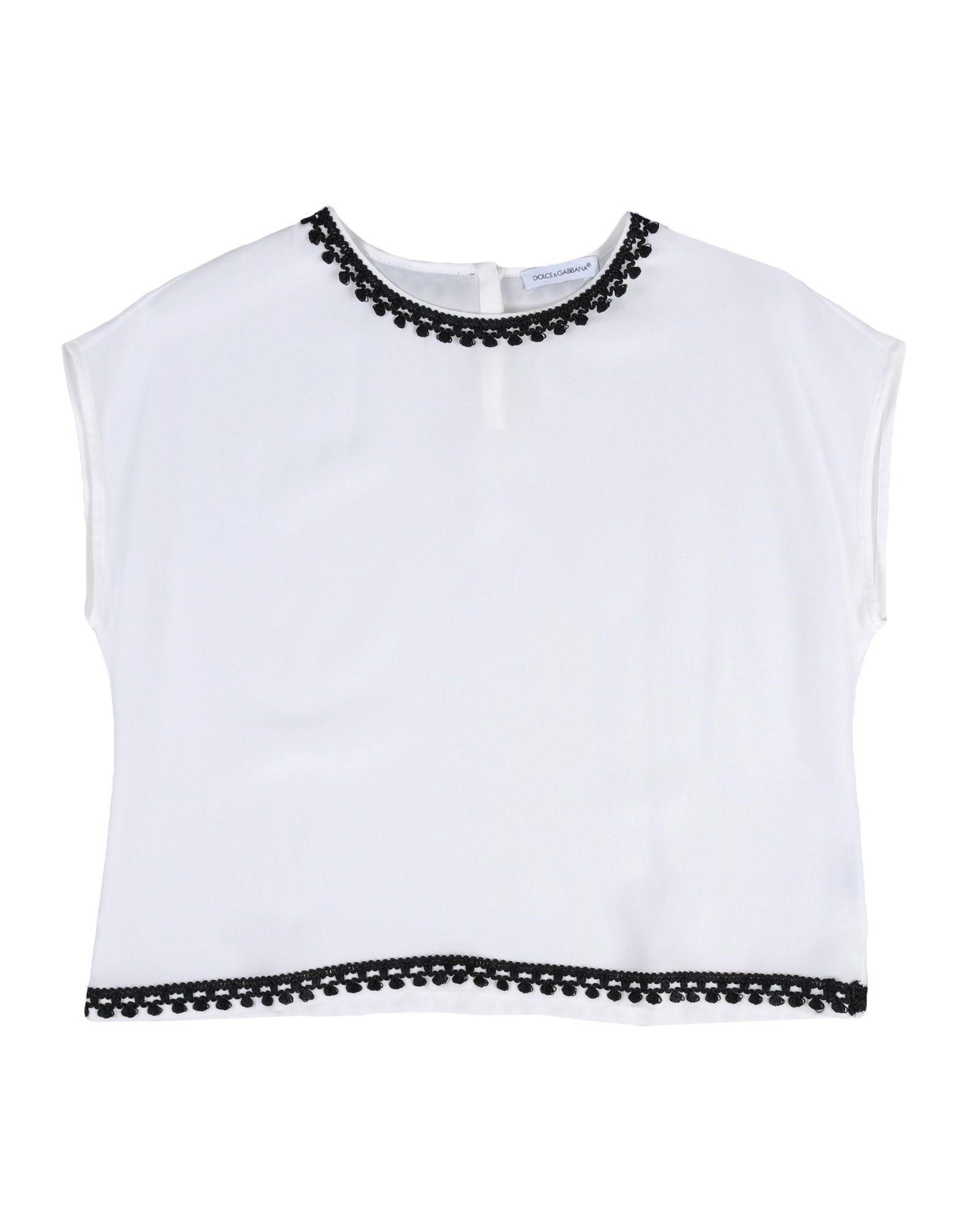 SHIRTS Dolce & Gabbana White Girl Silk