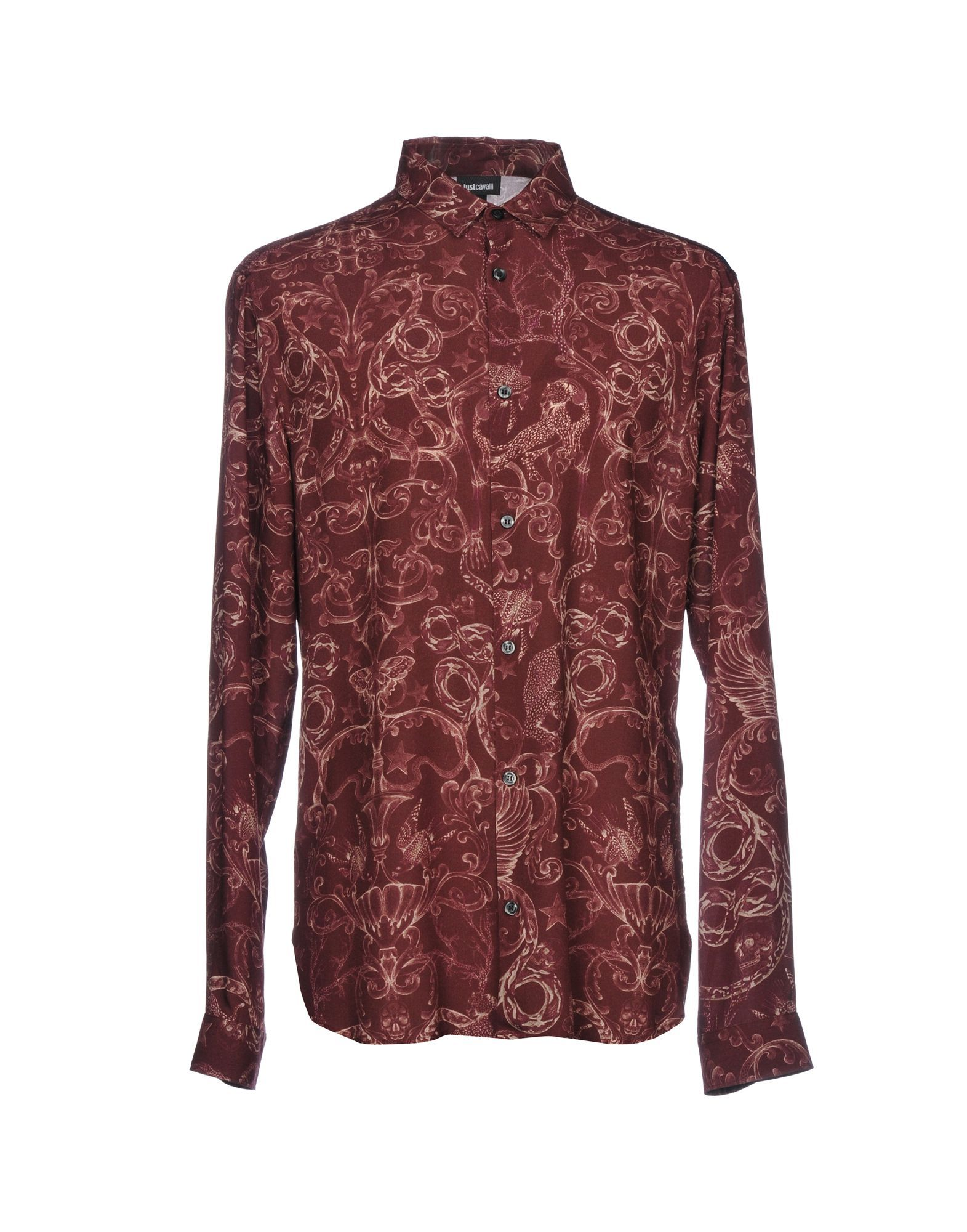 Just Cavalli Maroon Print Shirt
