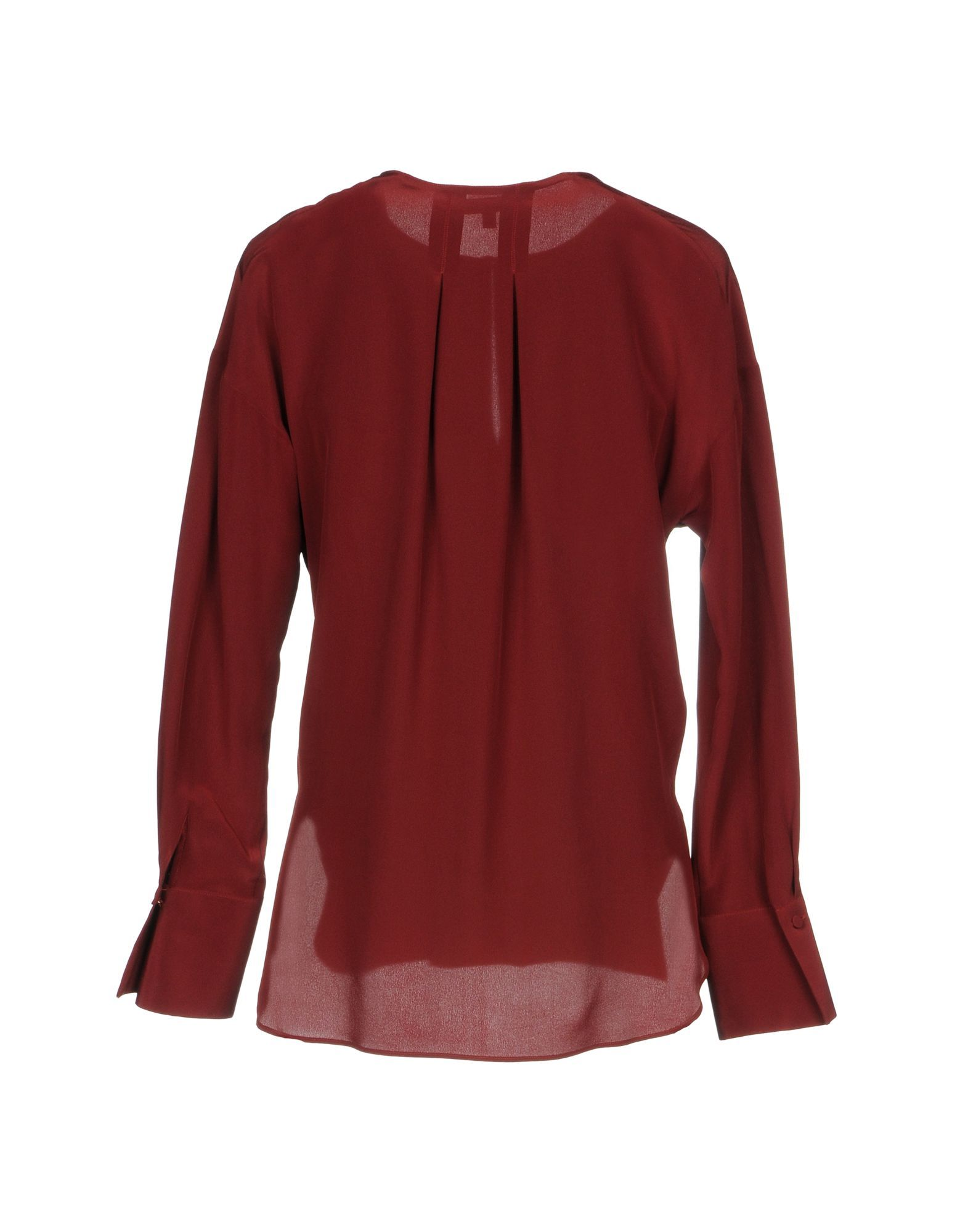 Brian Dales Brick Red Silk Shirt