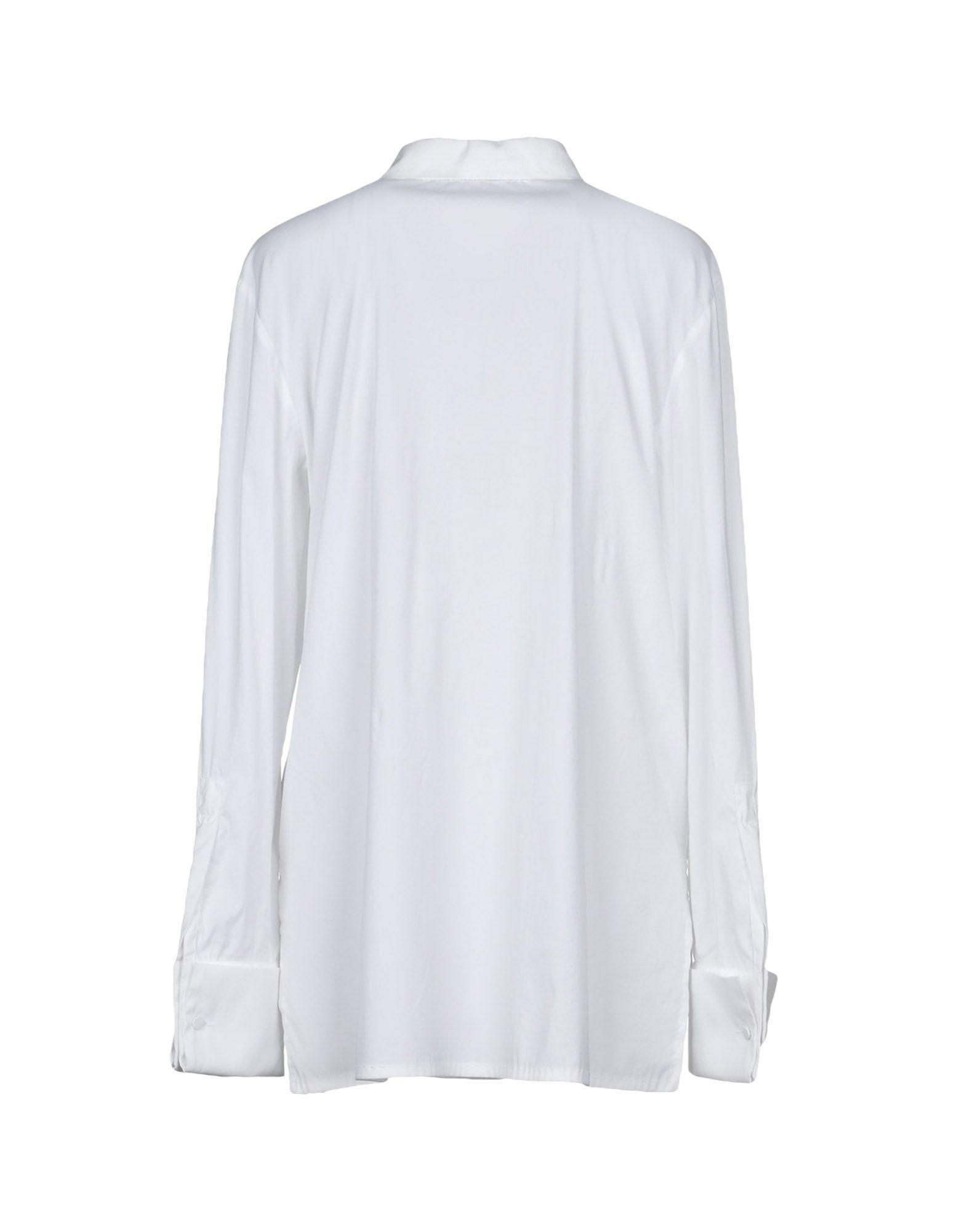 Les Copains White Cotton Poplin Shirt