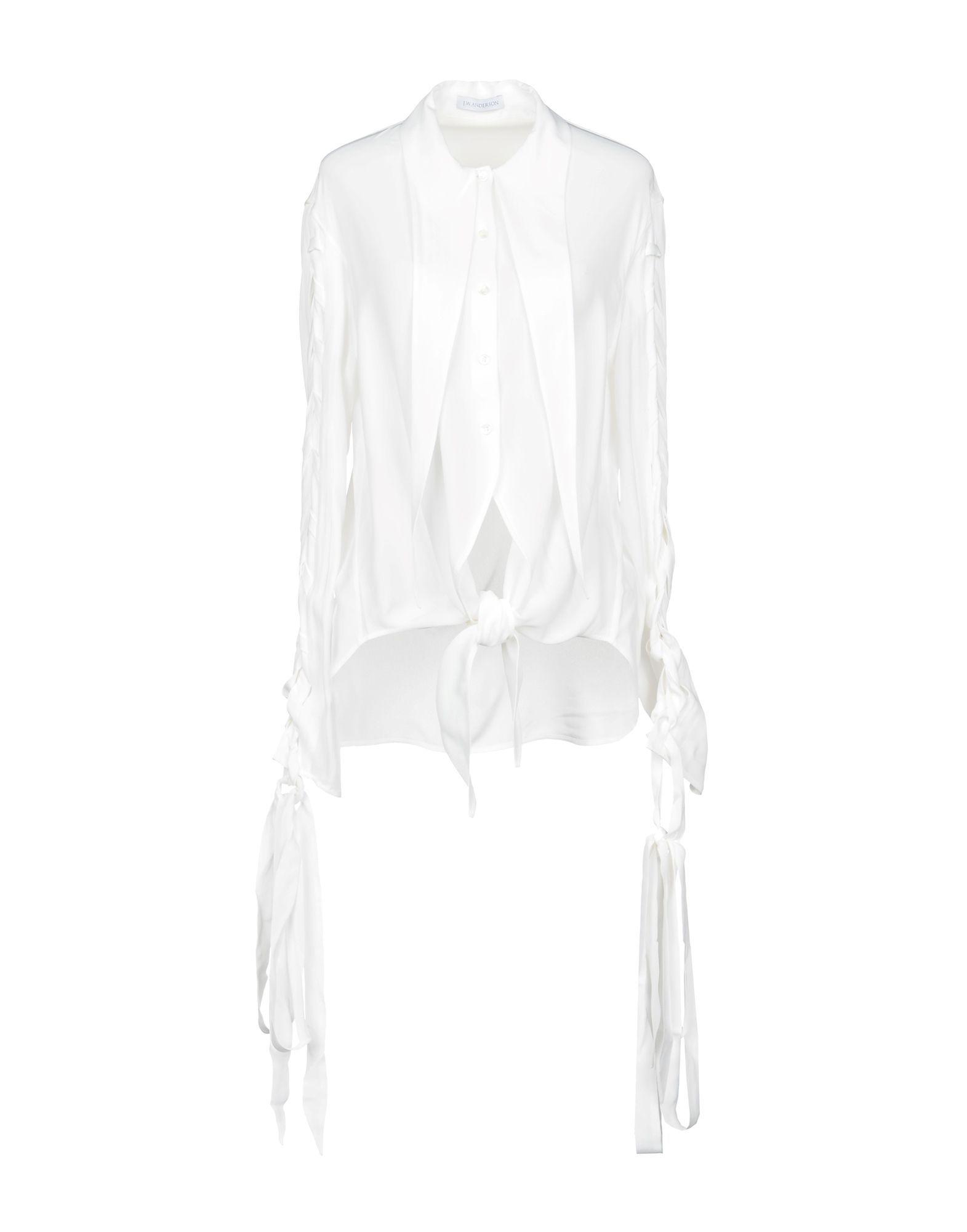JW Anderson White Crepe Shirt