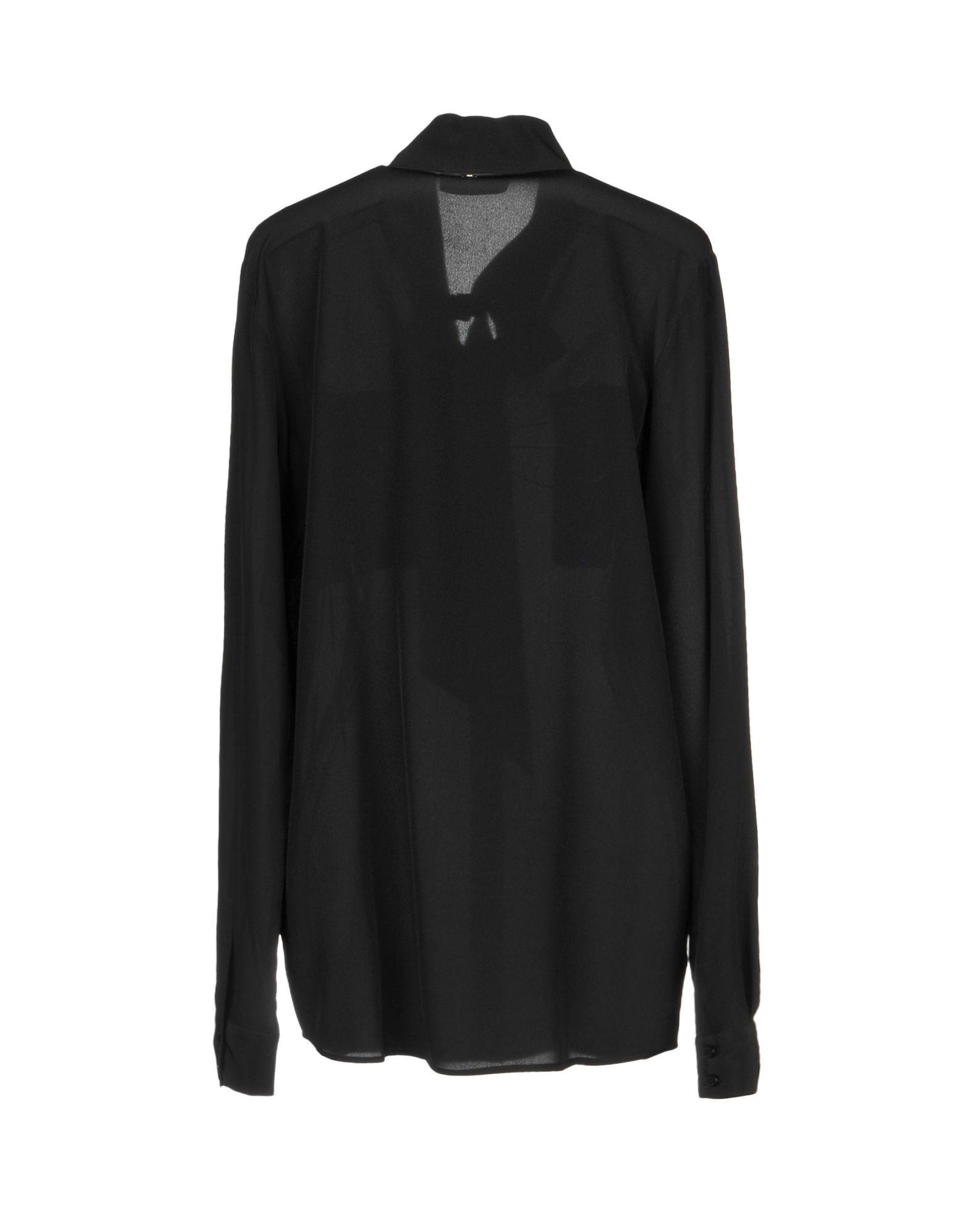 Twinset Black Silk Bow Collar Blouse