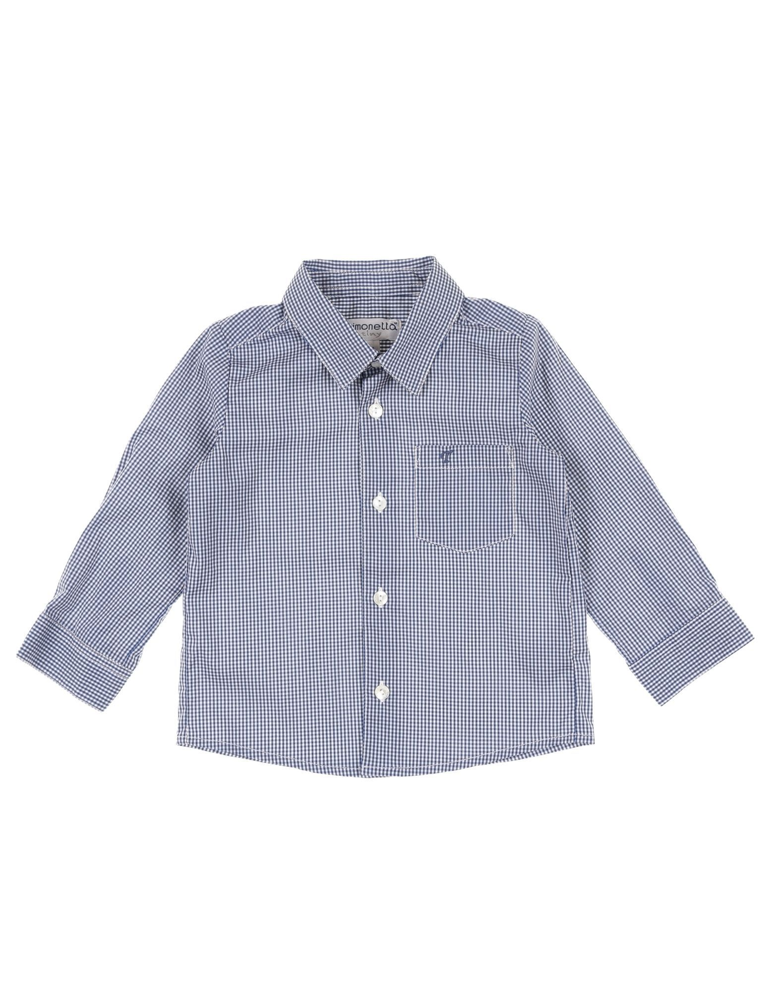 SHIRTS Simonetta Tiny Blue Boy Cotton