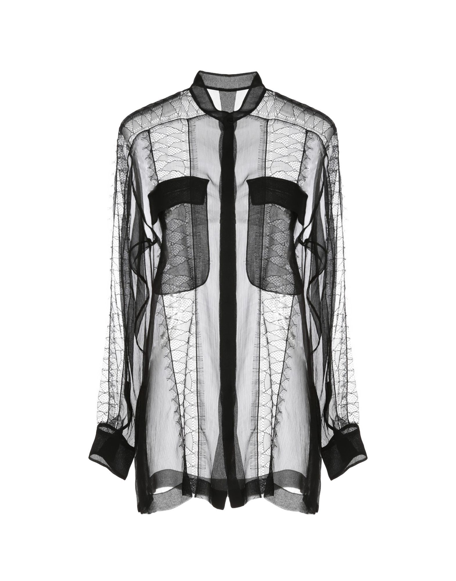 Alberta Ferretti Black Silk Chiffon Shirt