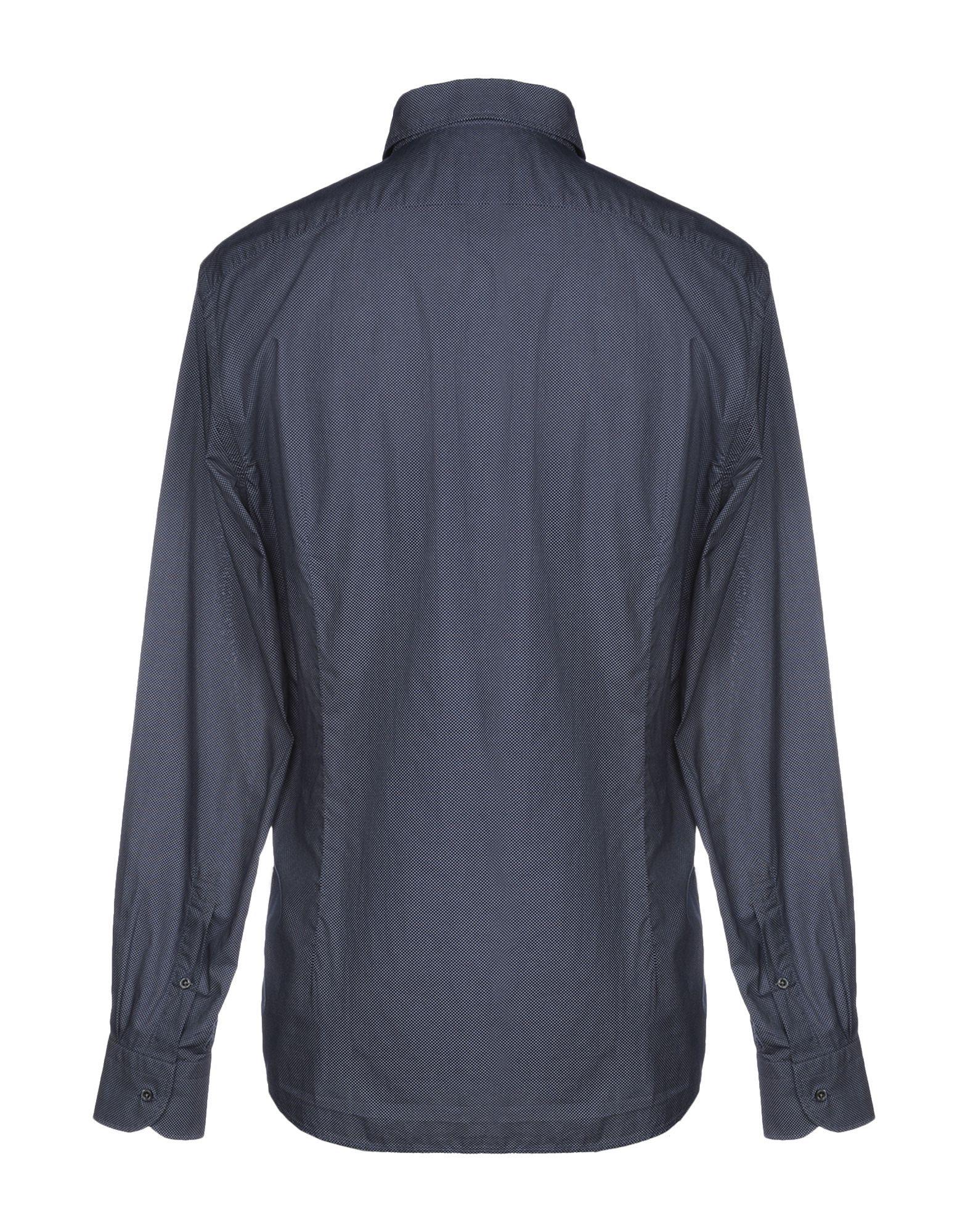 Corneliani Id Blue Cotton Shirts
