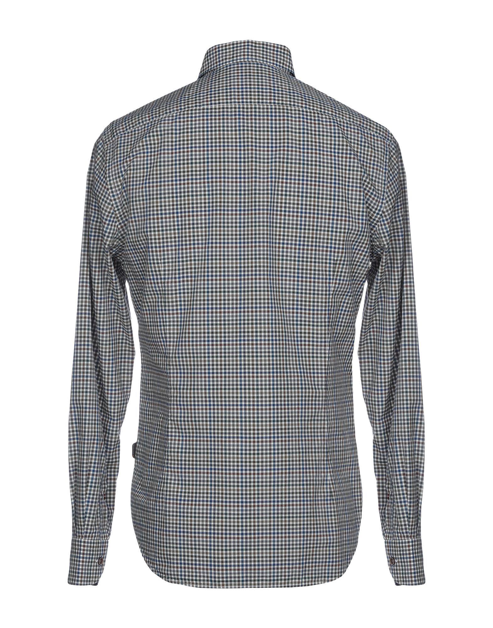 Corneliani Id Blue Check Cotton Shirt