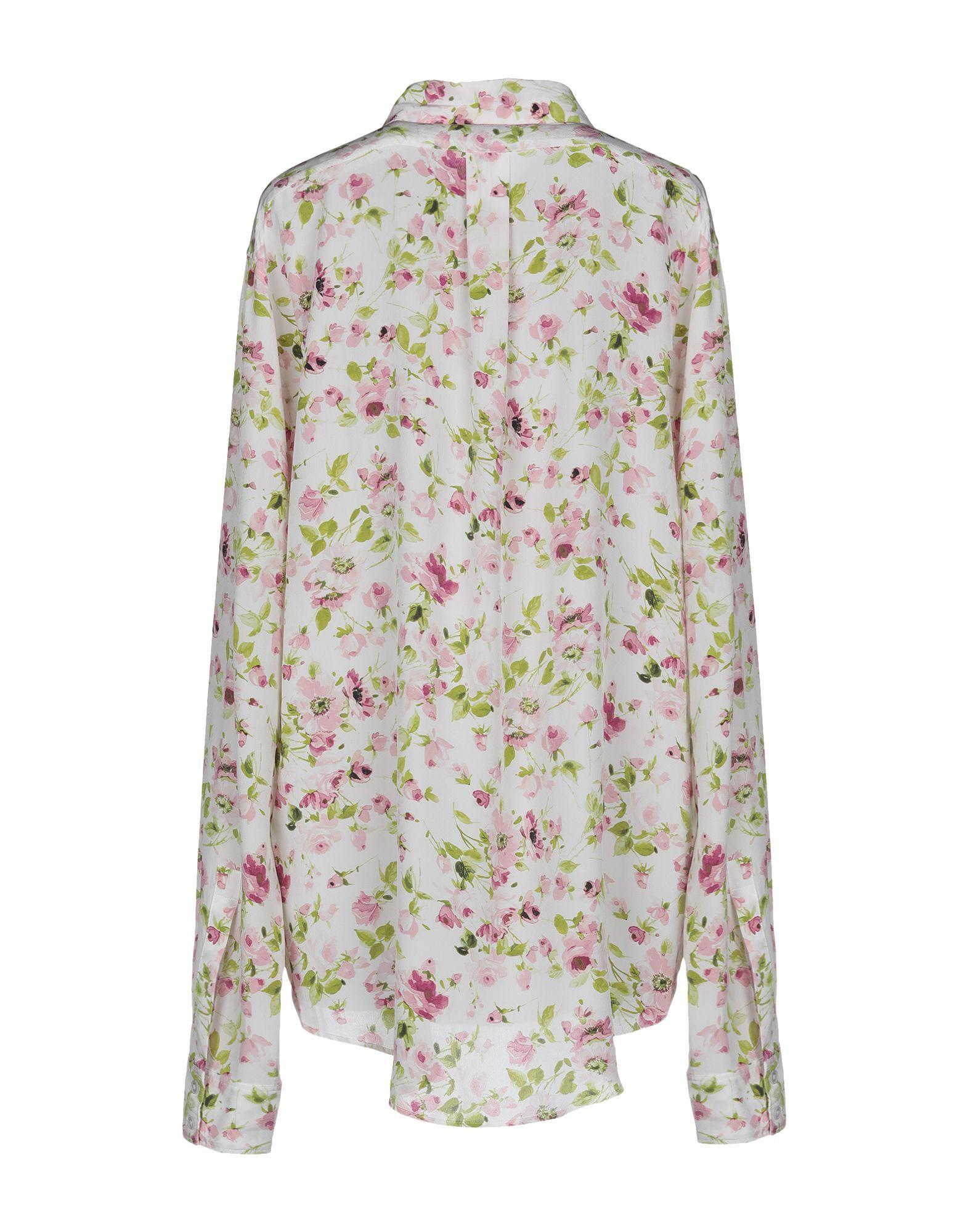 Faith Connexion Ivory Floral Design Silk Shirt