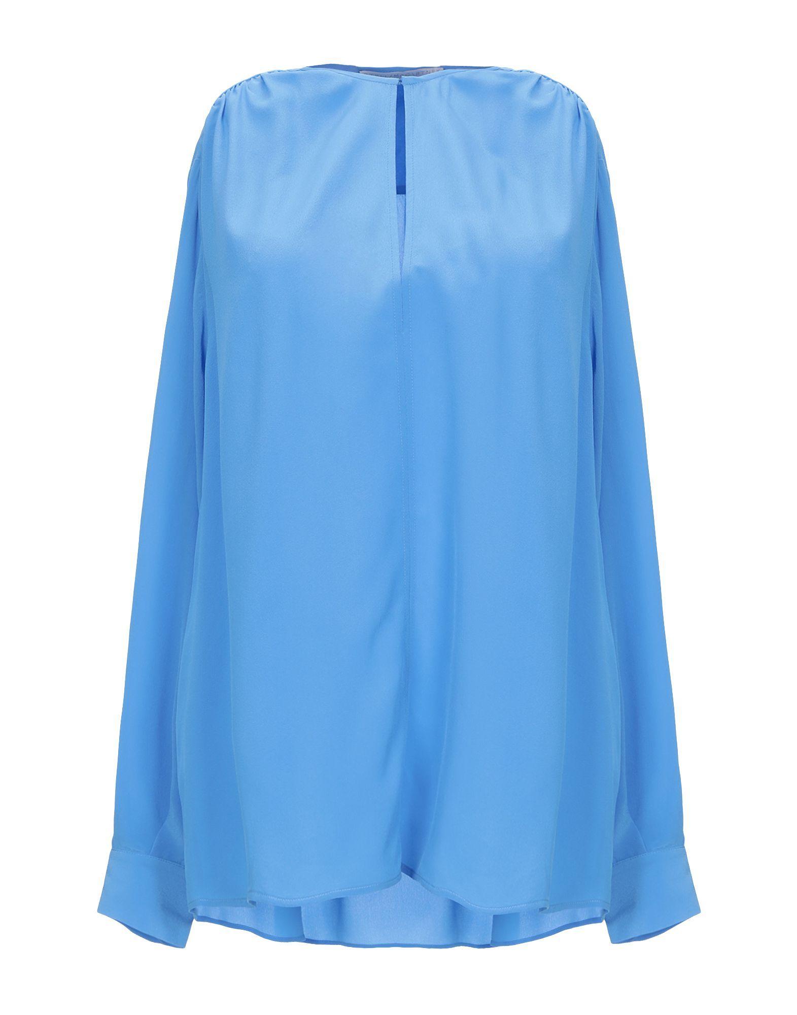 Stella McCartney Azure Silk Blouse