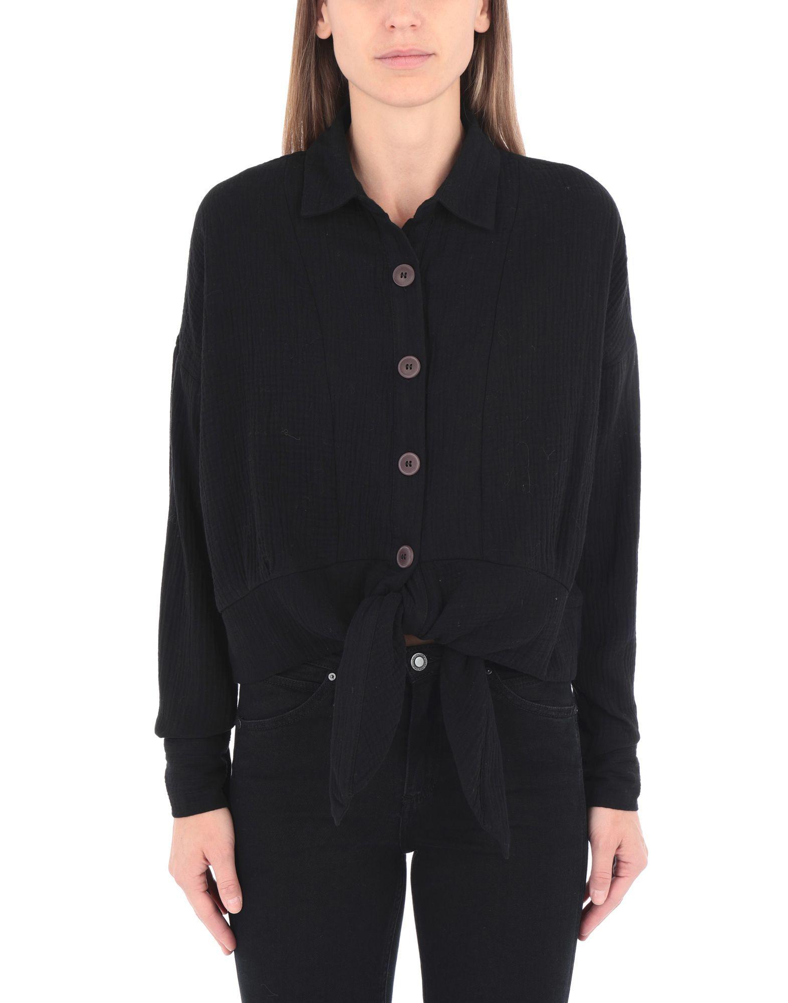 Free People Black Cotton Shirt