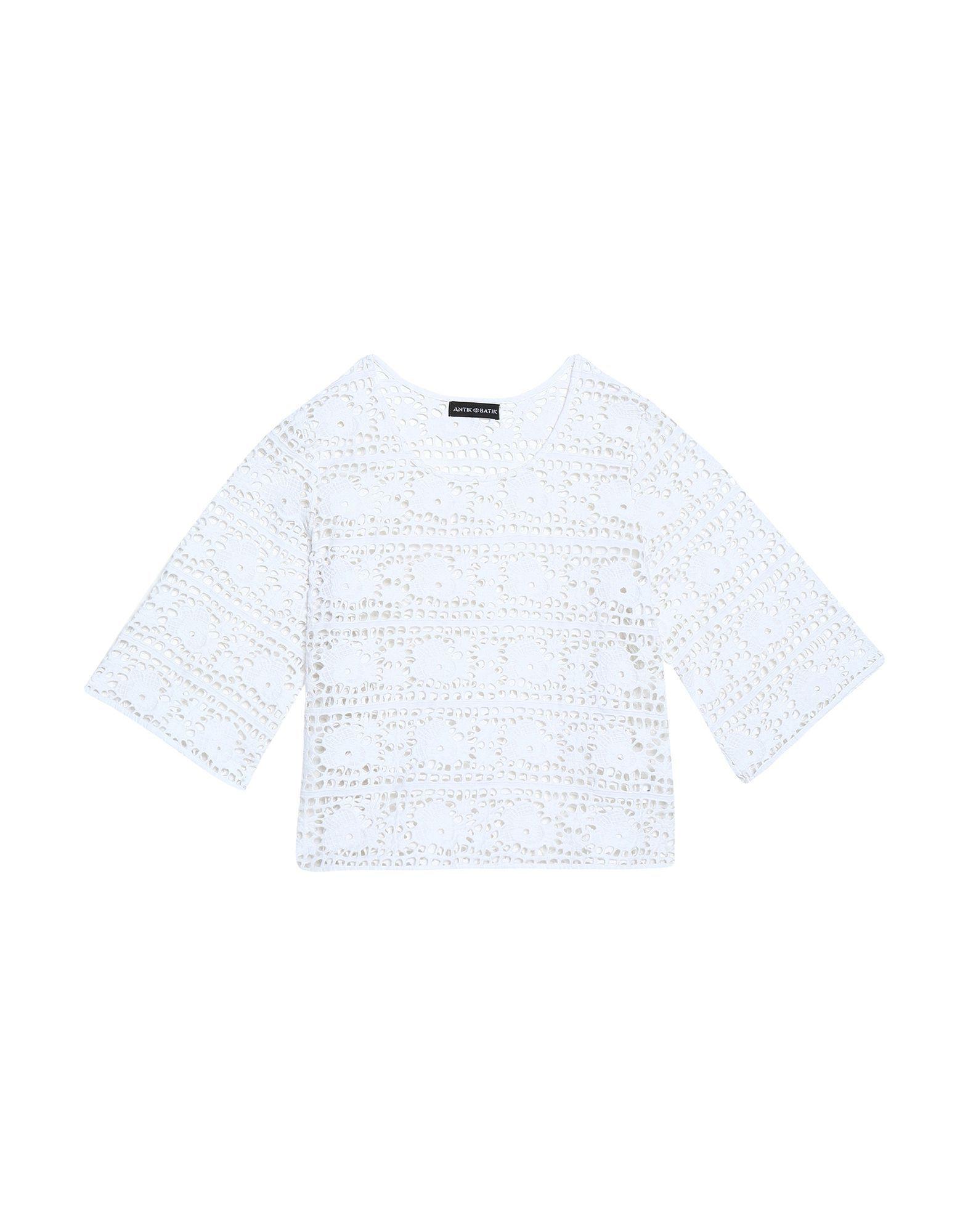 Antik Batik White Cotton Lace Blouse