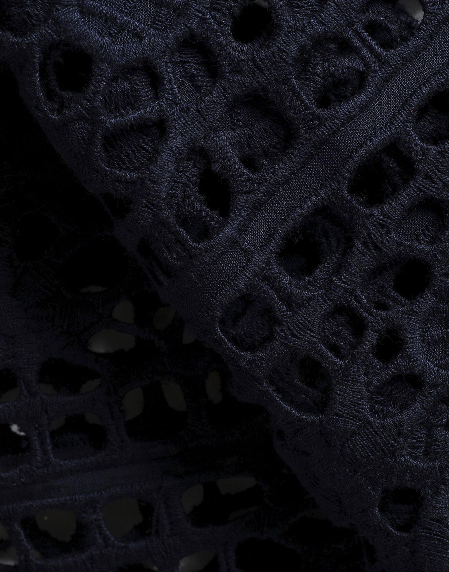 Antik Batik Dark Blue Cotton Lace Blouse