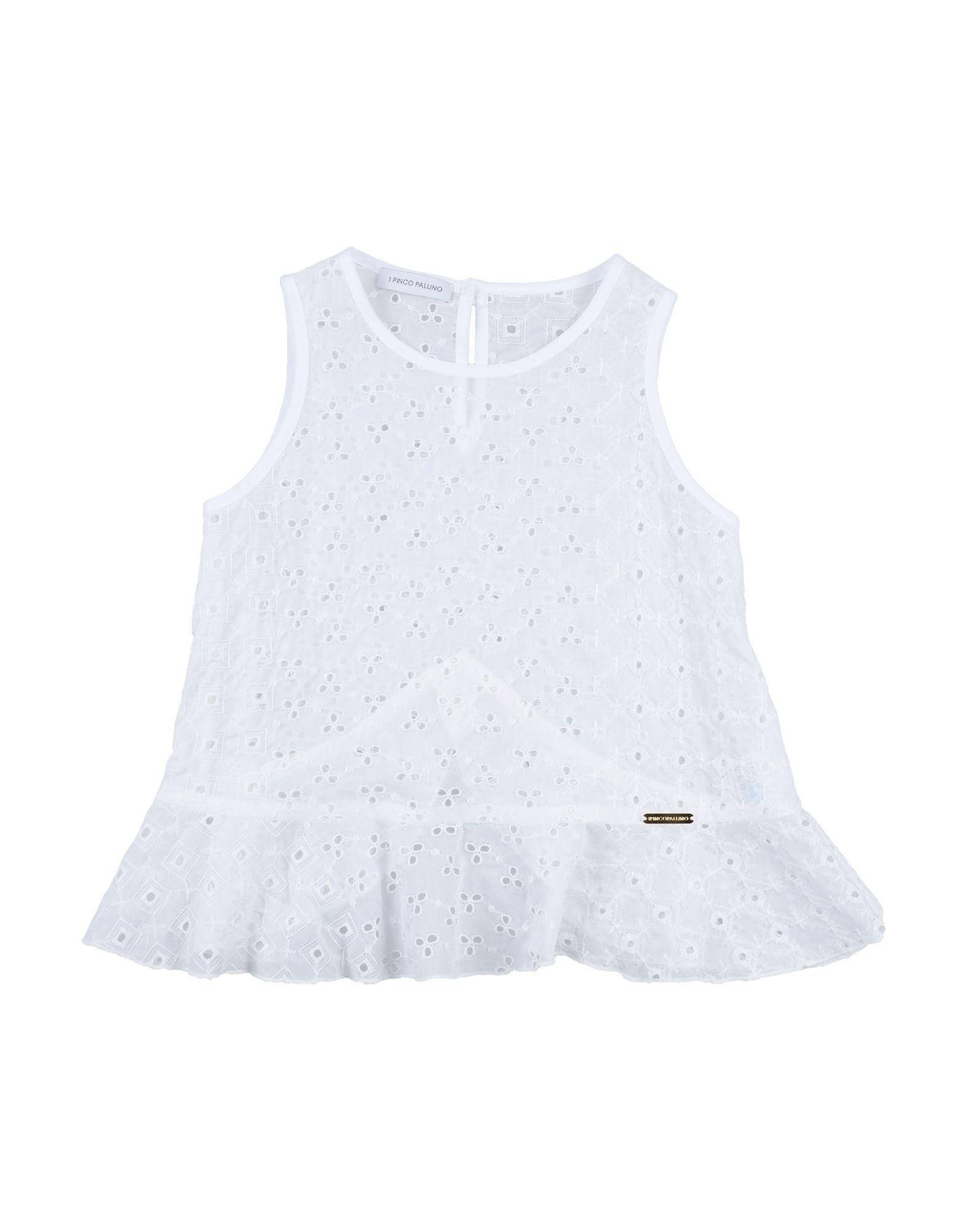 SHIRTS Girl I Pinco Pallino White Cotton